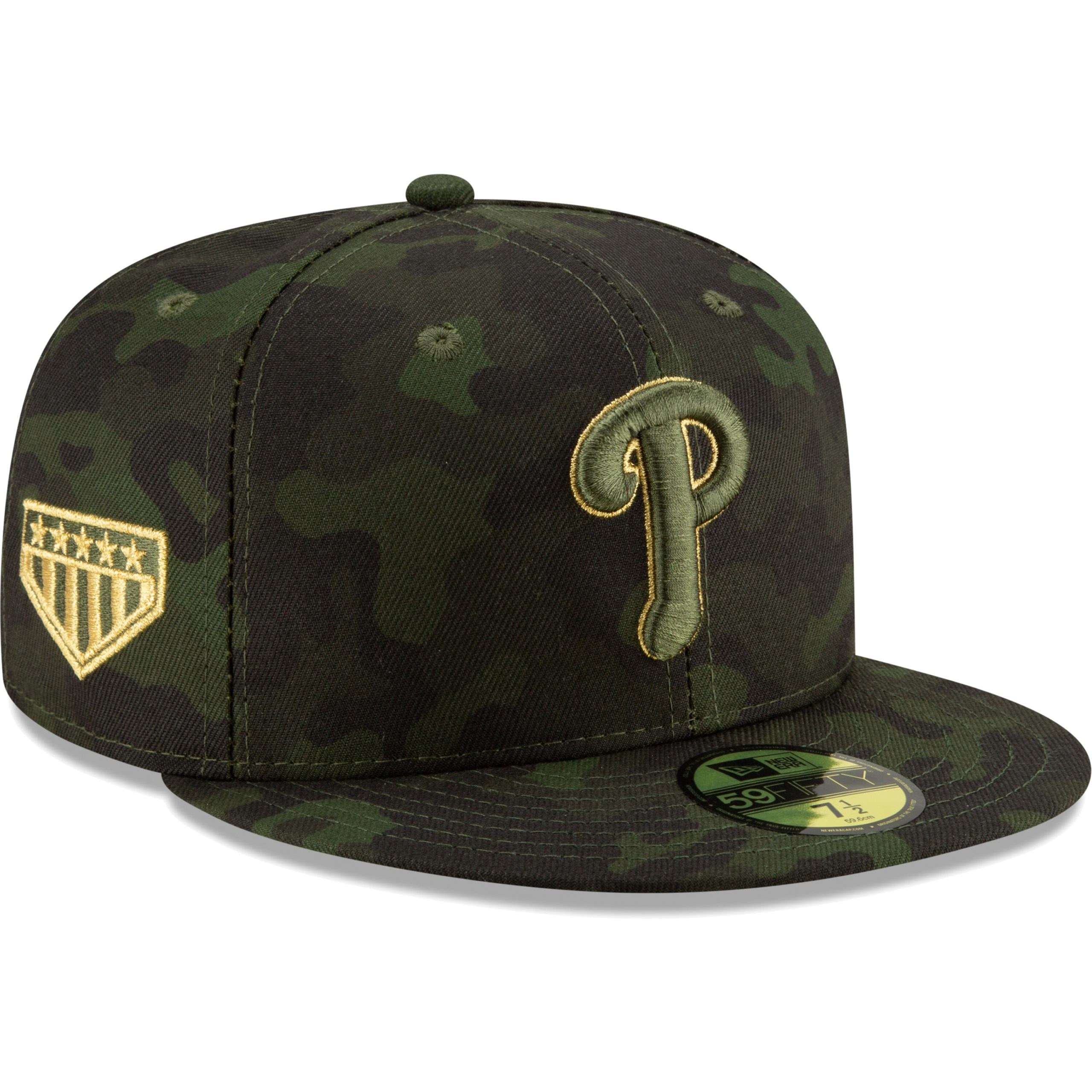 Philadelphia Phillies New Era 2019 MLB Armed Forces Day On-Field 59FIFTY Fitted Hat - Camo