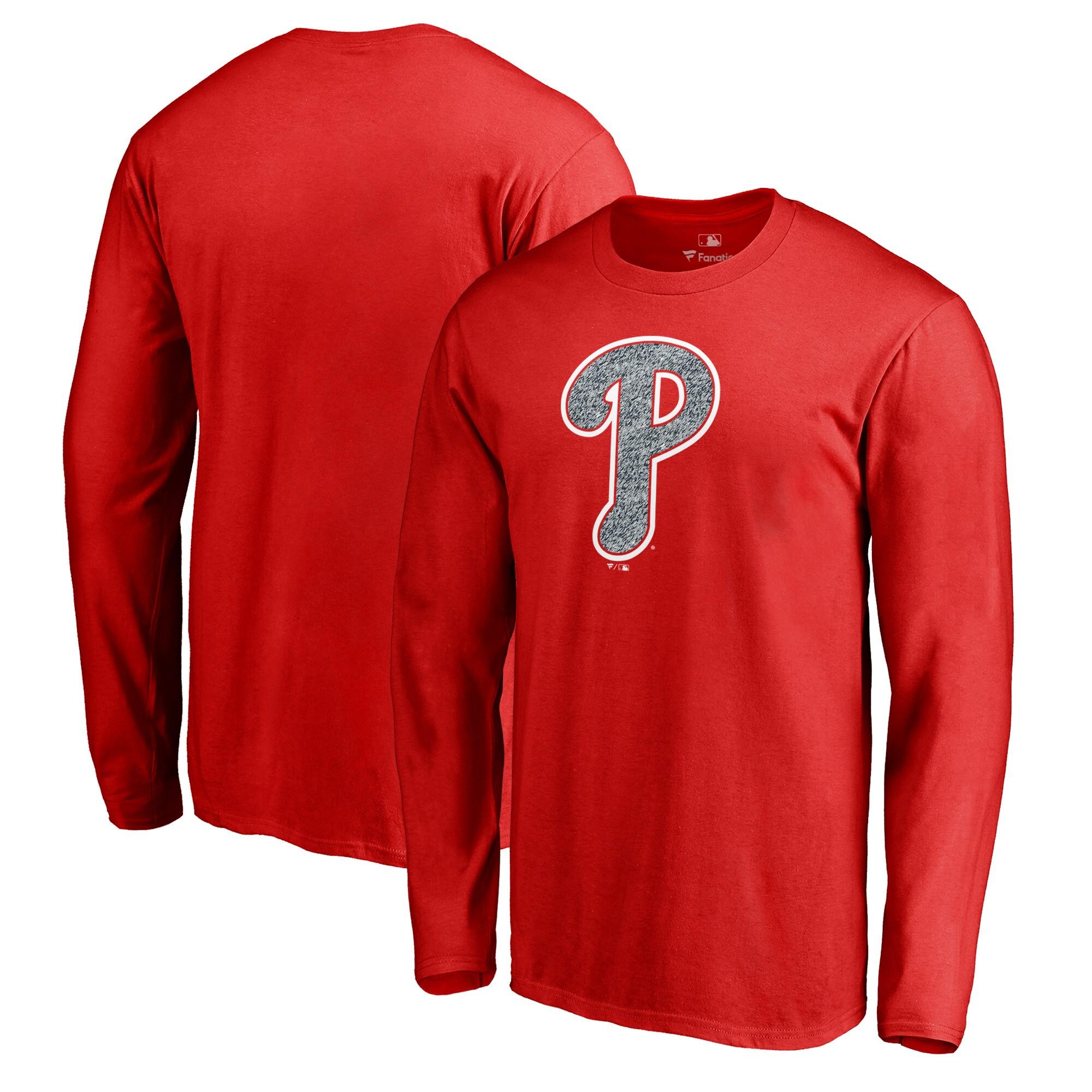 Philadelphia Phillies Fanatics Branded Static Logo Long Sleeve T-Shirt - Red