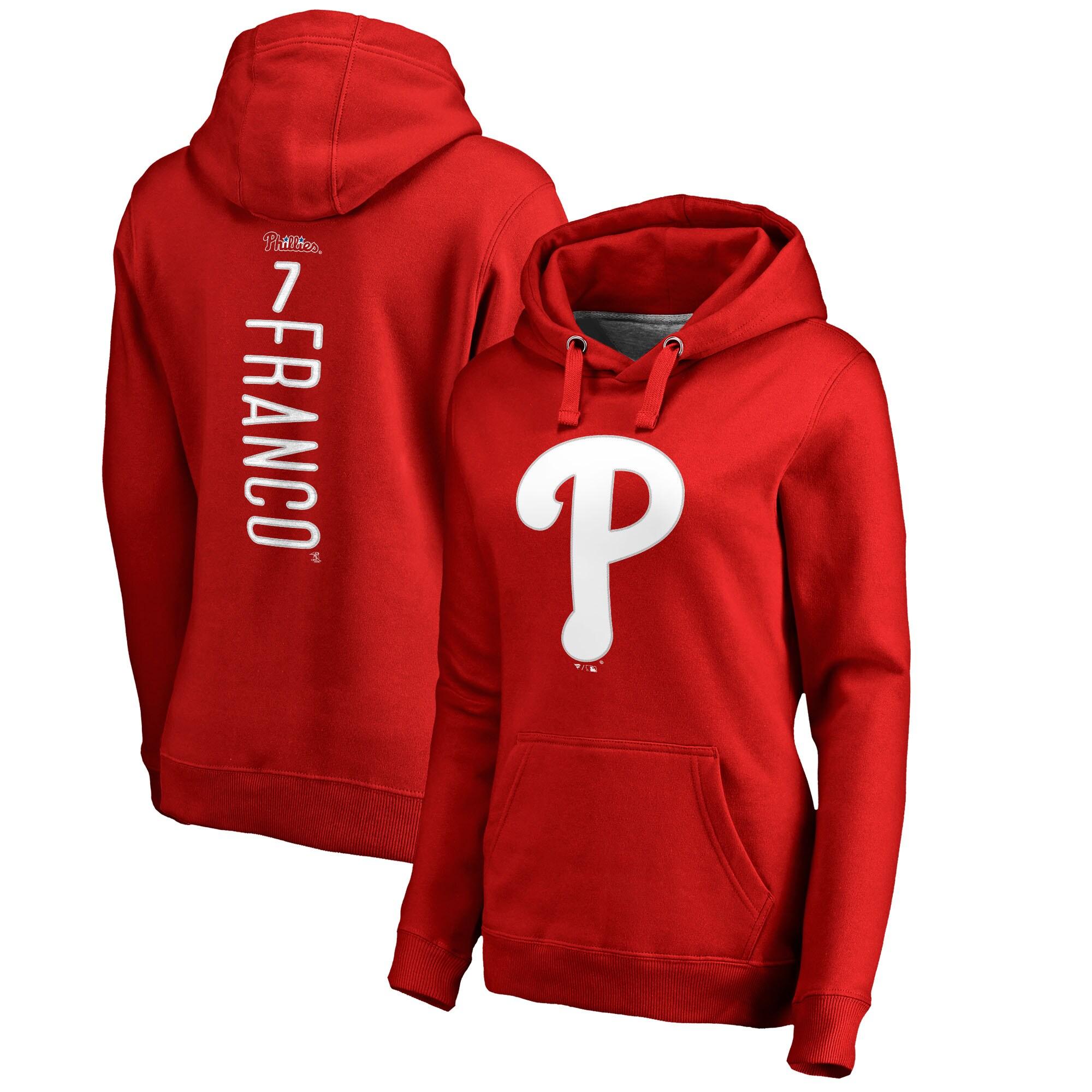 Maikel Franco Philadelphia Phillies Fanatics Branded Women's Backer Pullover Hoodie - Red