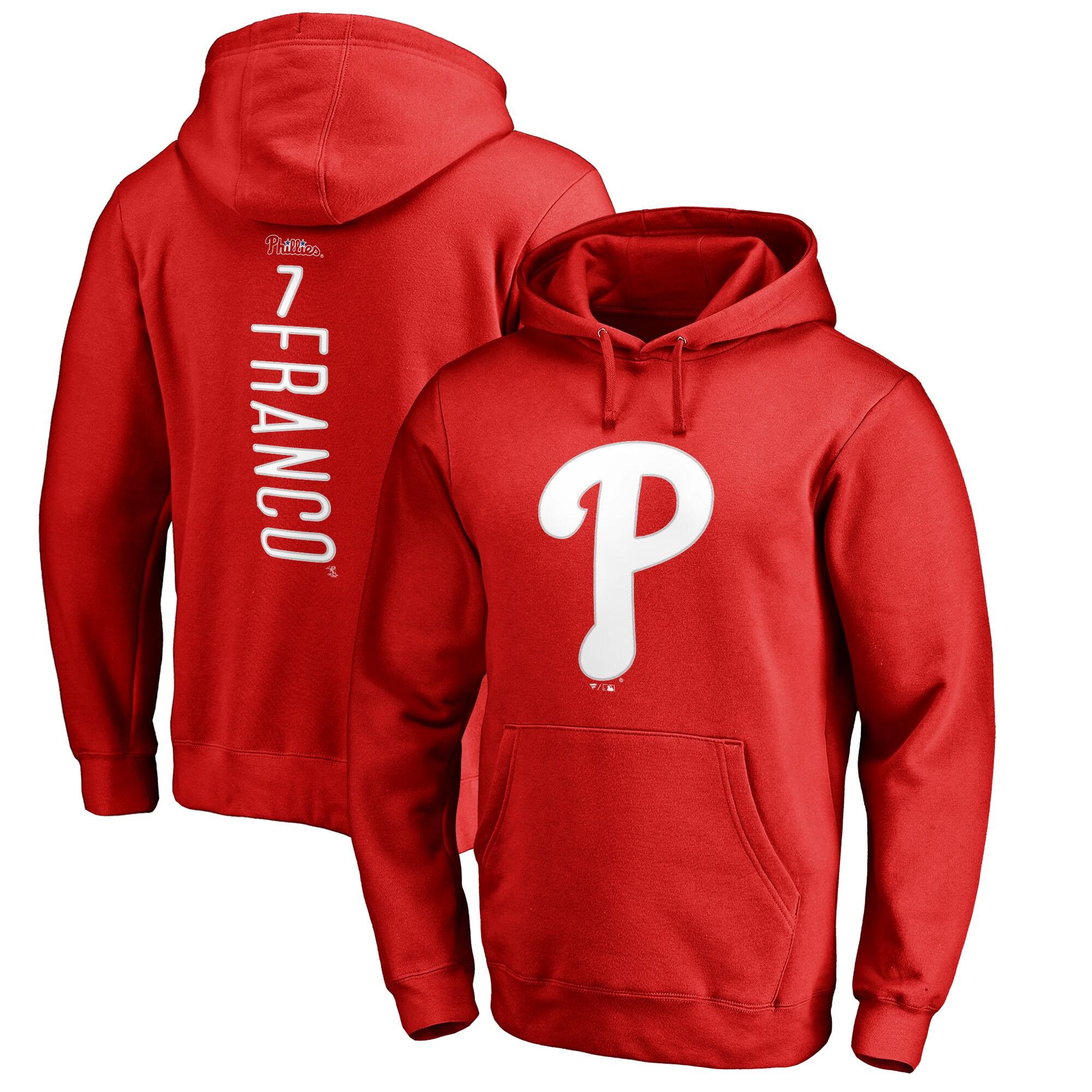 Maikel Franco Philadelphia Phillies Fanatics Branded Backer Pullover Hoodie - Red