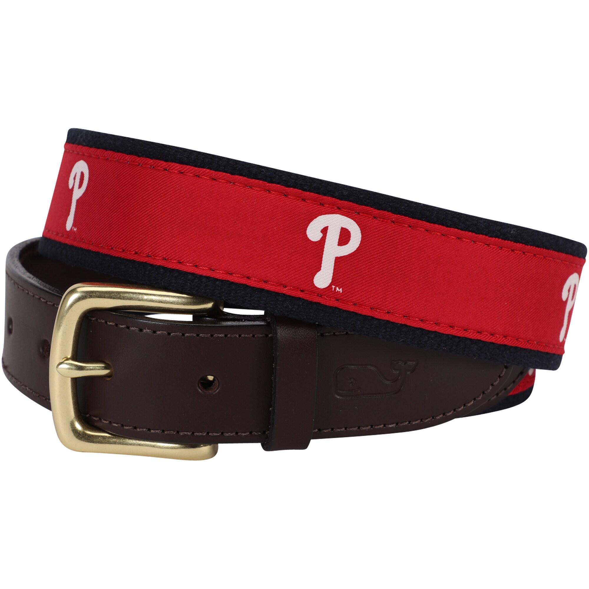 Philadelphia Phillies Vineyard Vines MLB Canvas Belt - Red