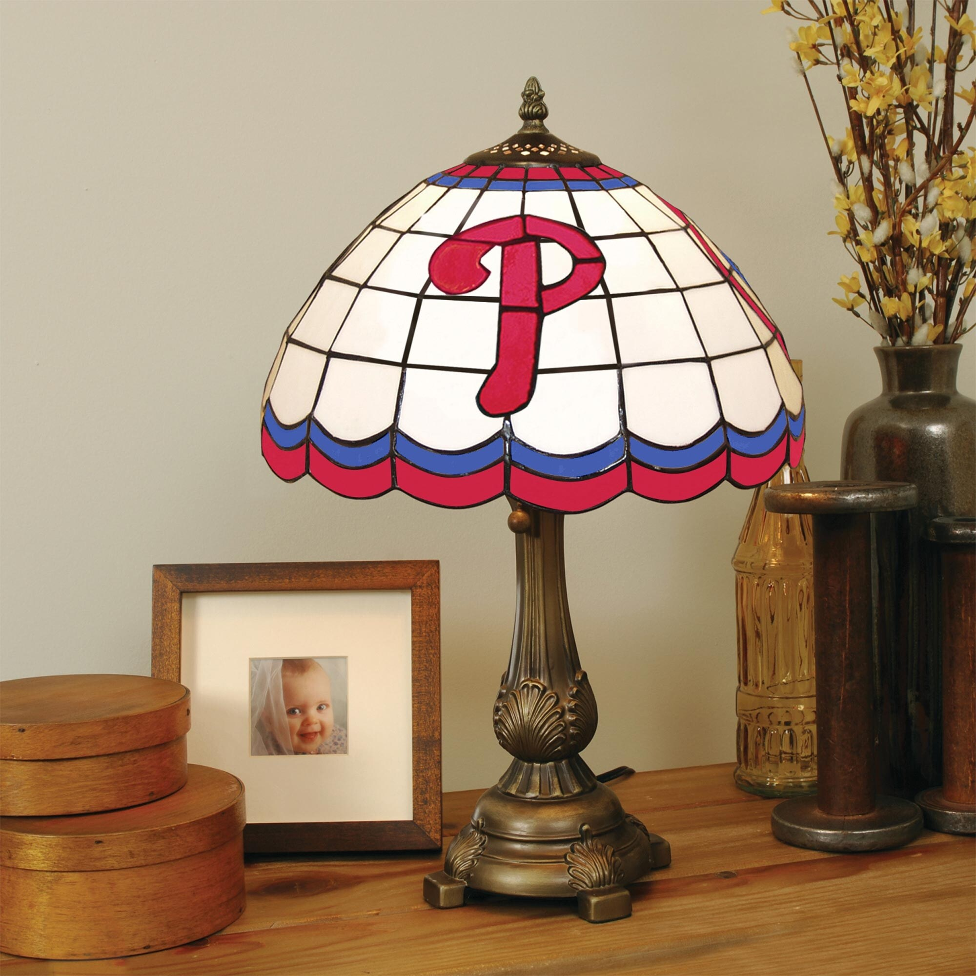 Philadelphia Phillies Tiffany Table Lamp