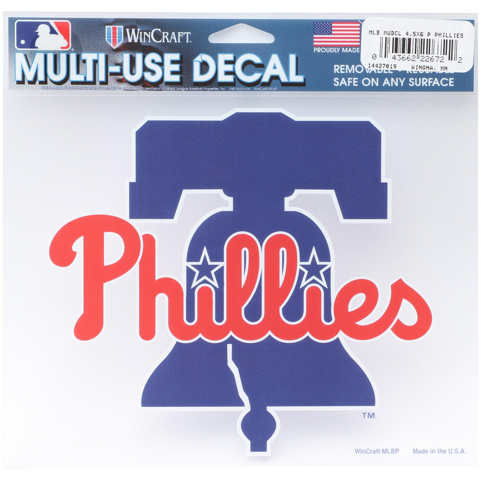 "Philadelphia Phillies WinCraft 5"" x 6"" Multi-Use Bell Decal"