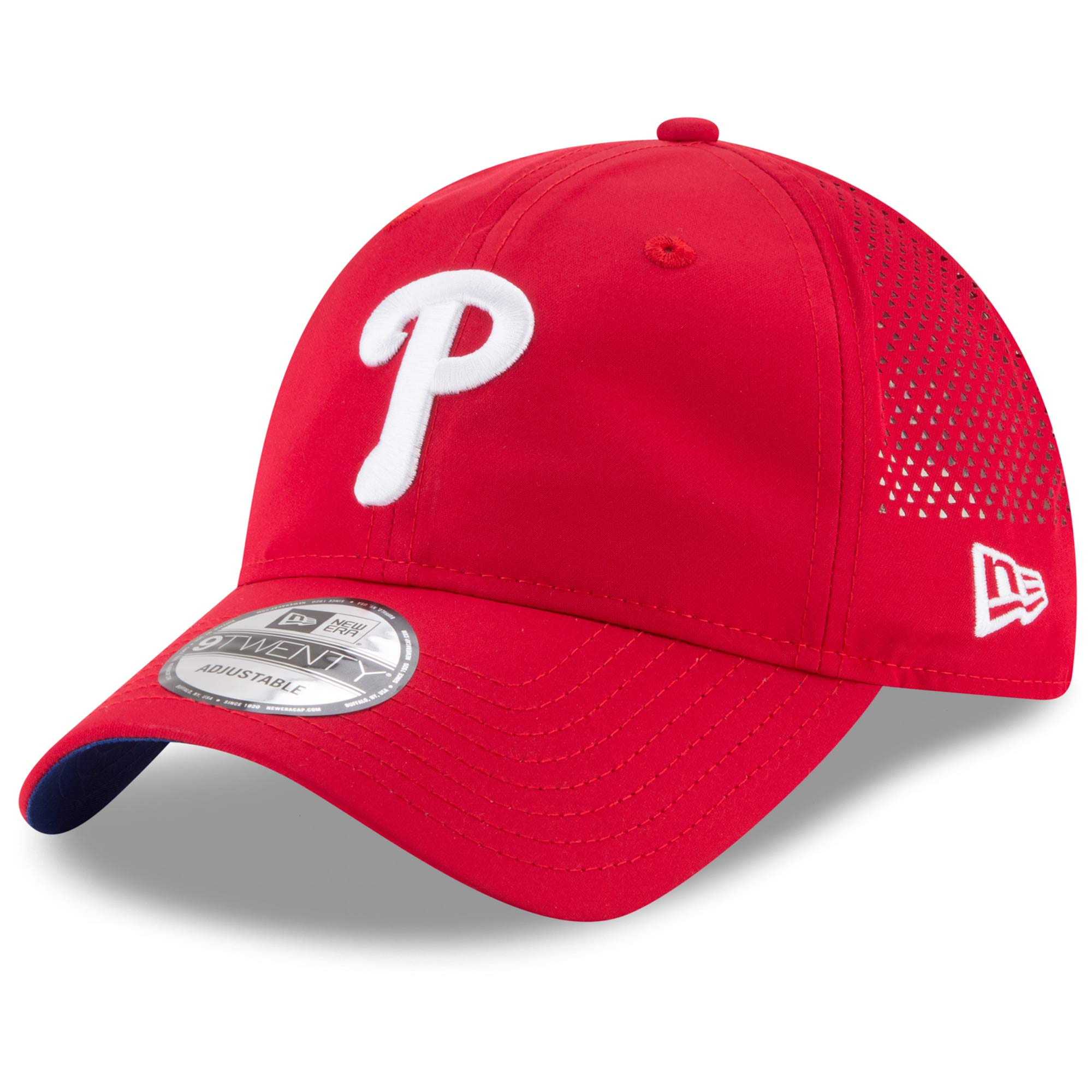 Philadelphia Phillies New Era Perforated Pivot 9TWENTY Adjustable Hat - Red