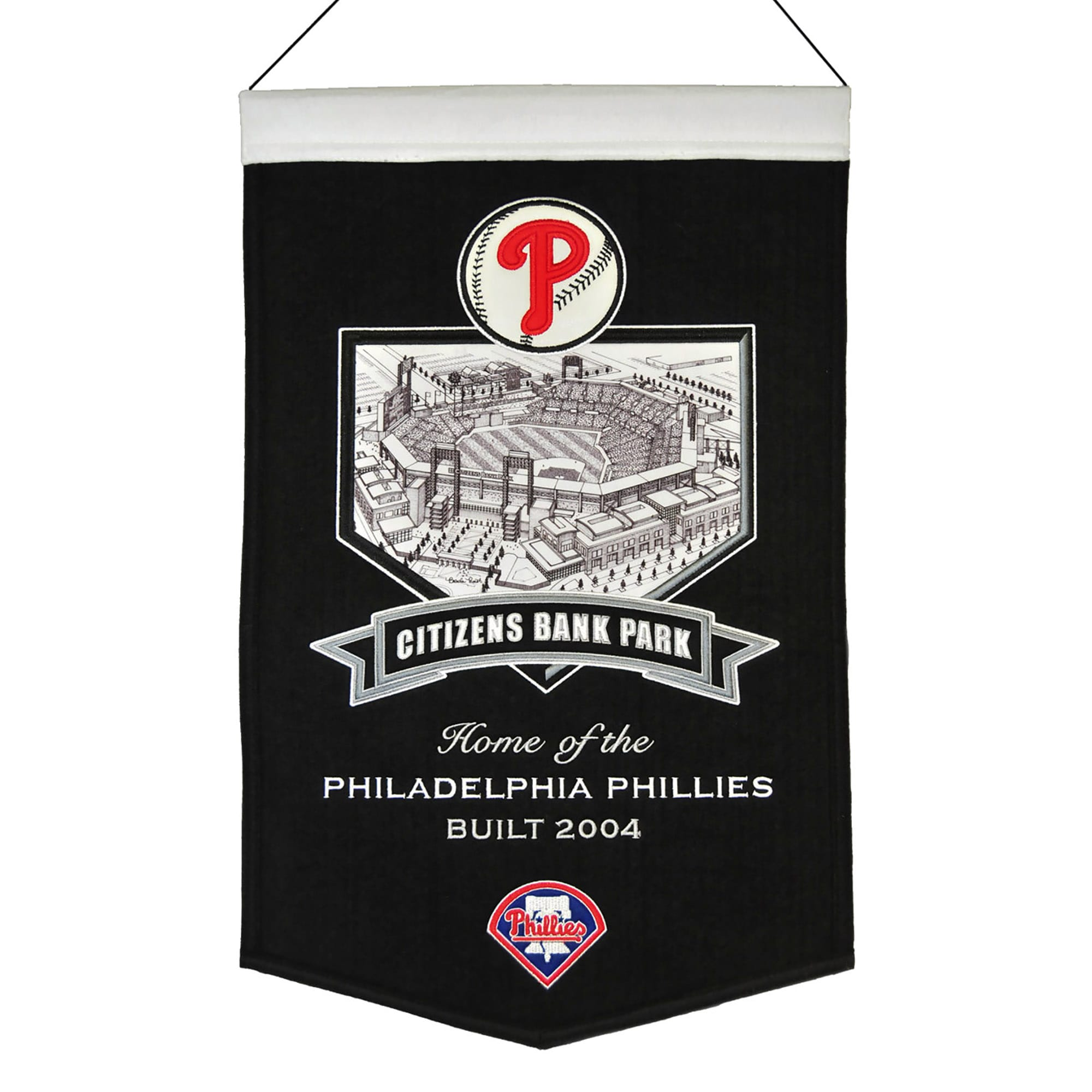 "Philadelphia Phillies 15"" x 24"" Citizens Bank Park Stadium Banner"