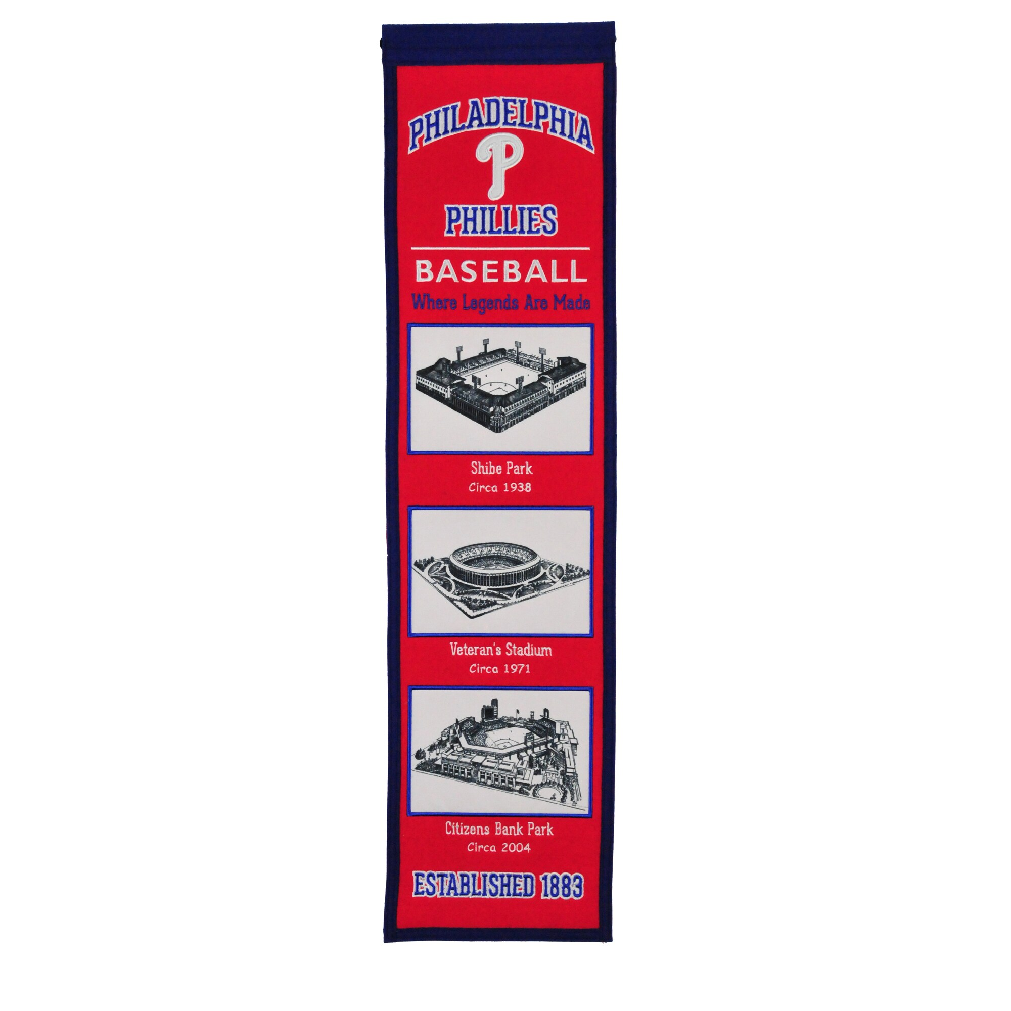 "Philadelphia Phillies 8"" x 32"" Stadium Evolution Banner"