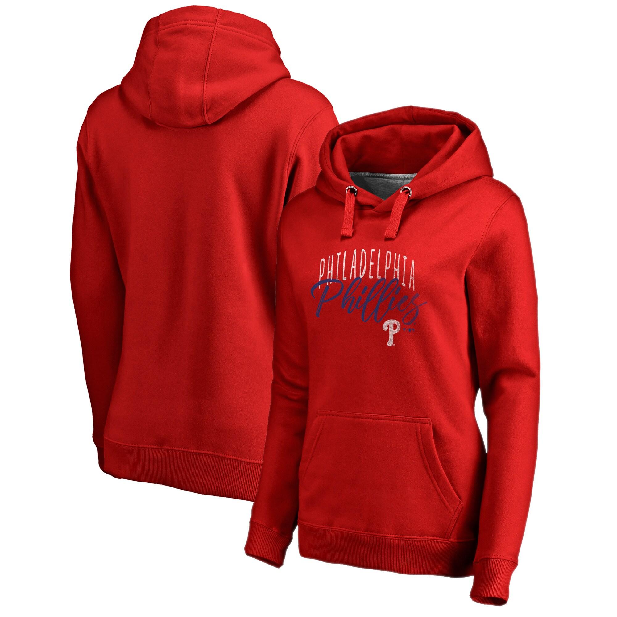 Philadelphia Phillies Fanatics Branded Women's Graceful Pullover Hoodie - Red