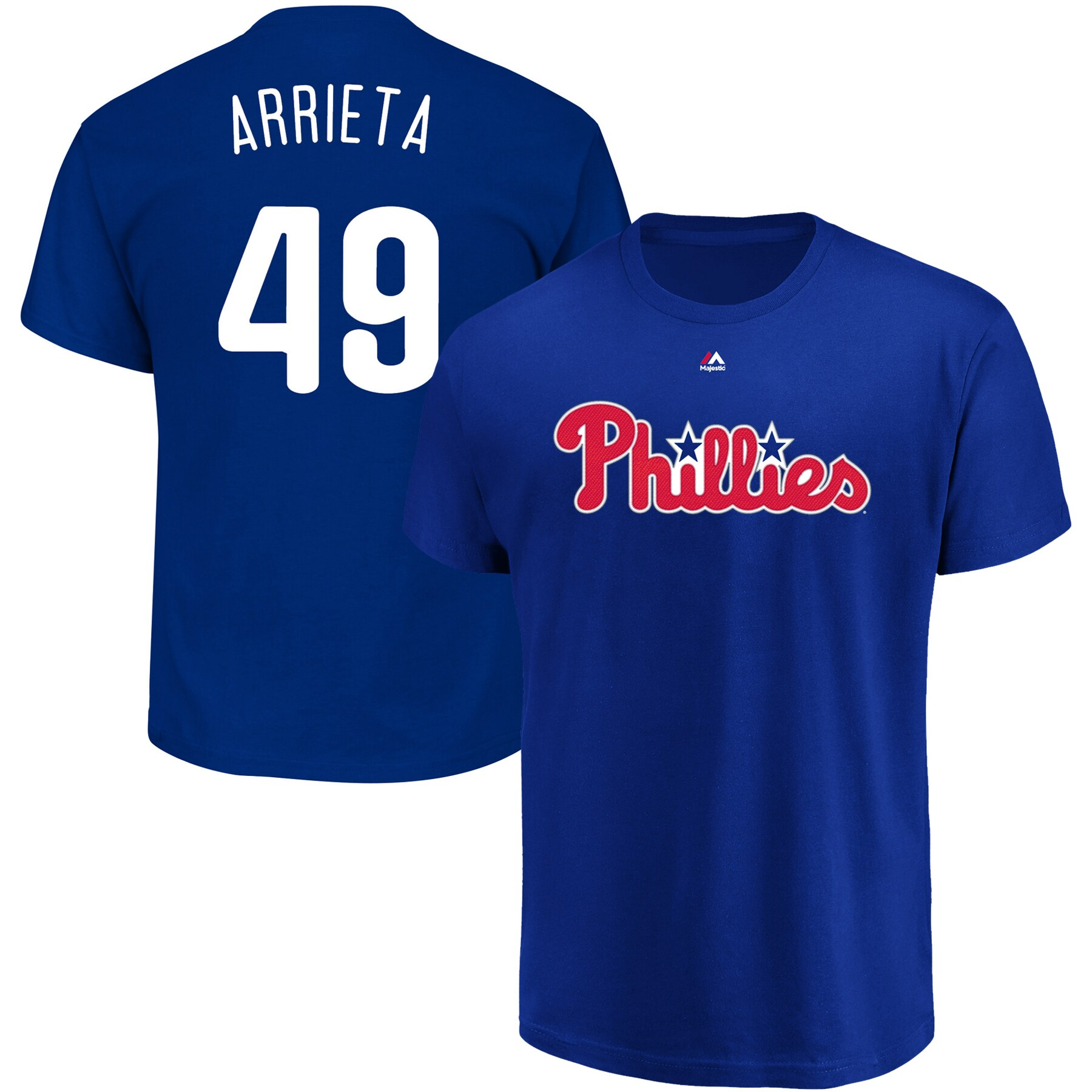 Jake Arrieta Philadelphia Phillies Majestic Official Name & Number T-Shirt - Royal