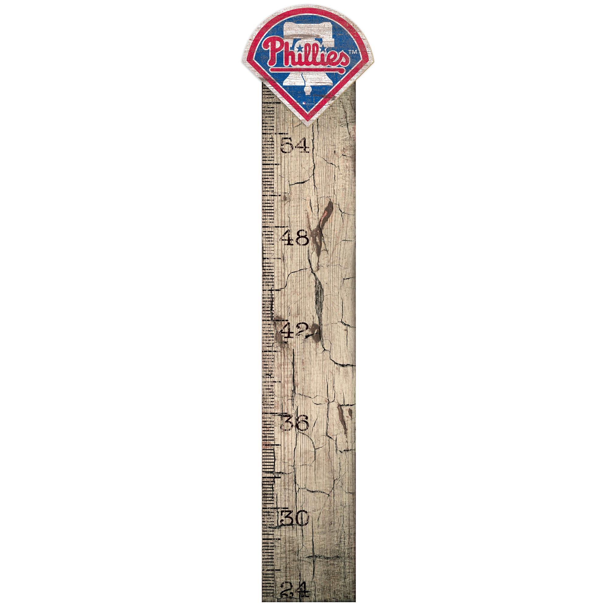 "Philadelphia Phillies 6"" x 36"" Growth Chart Sign"