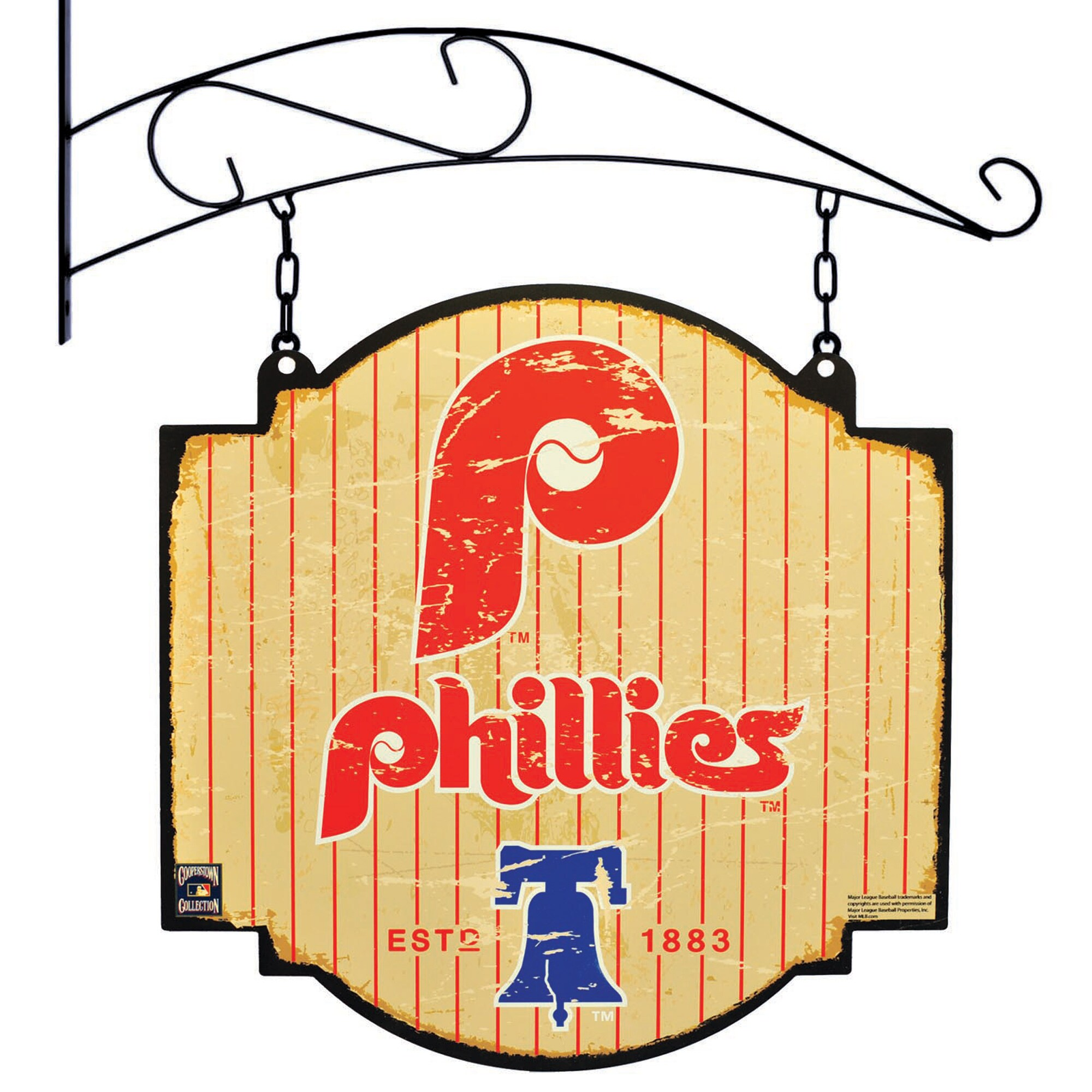 "Philadelphia Phillies 16"" x 16"" Tavern Sign - Cream"