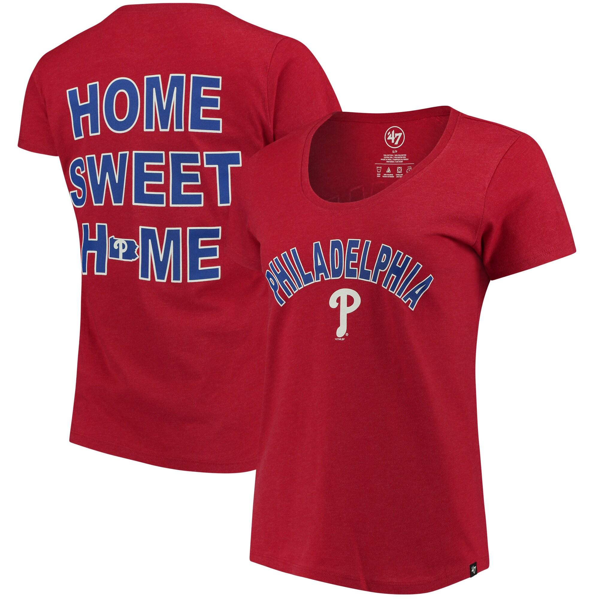 Philadelphia Phillies '47 Women's Club Scoop Neck T-Shirt - Red