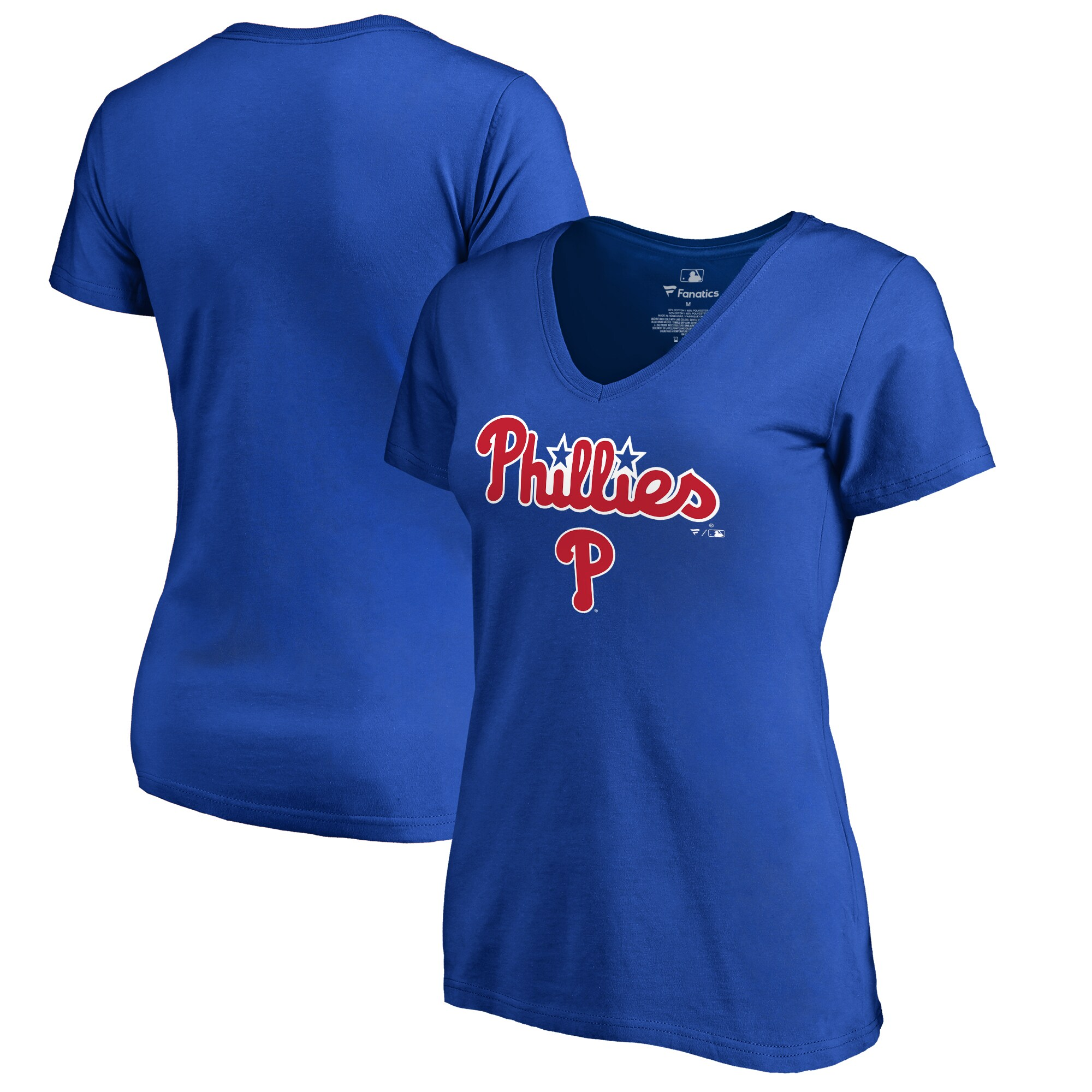 Philadelphia Phillies Fanatics Branded Women's Team Lockup T-Shirt - Royal