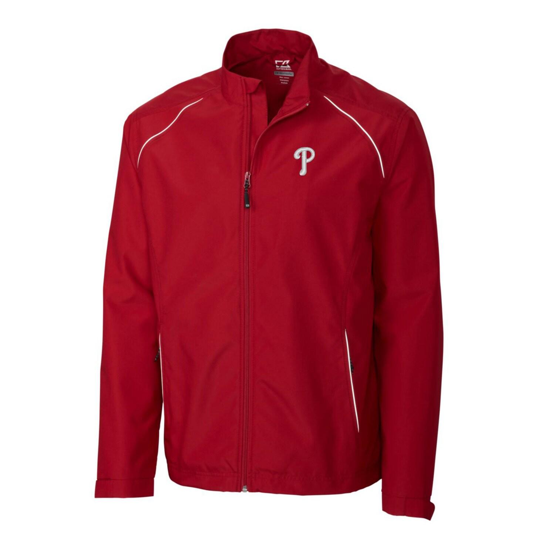Philadelphia Phillies Cutter & Buck Big & Tall WeatherTec Beacon Full Zip Jacket - Red