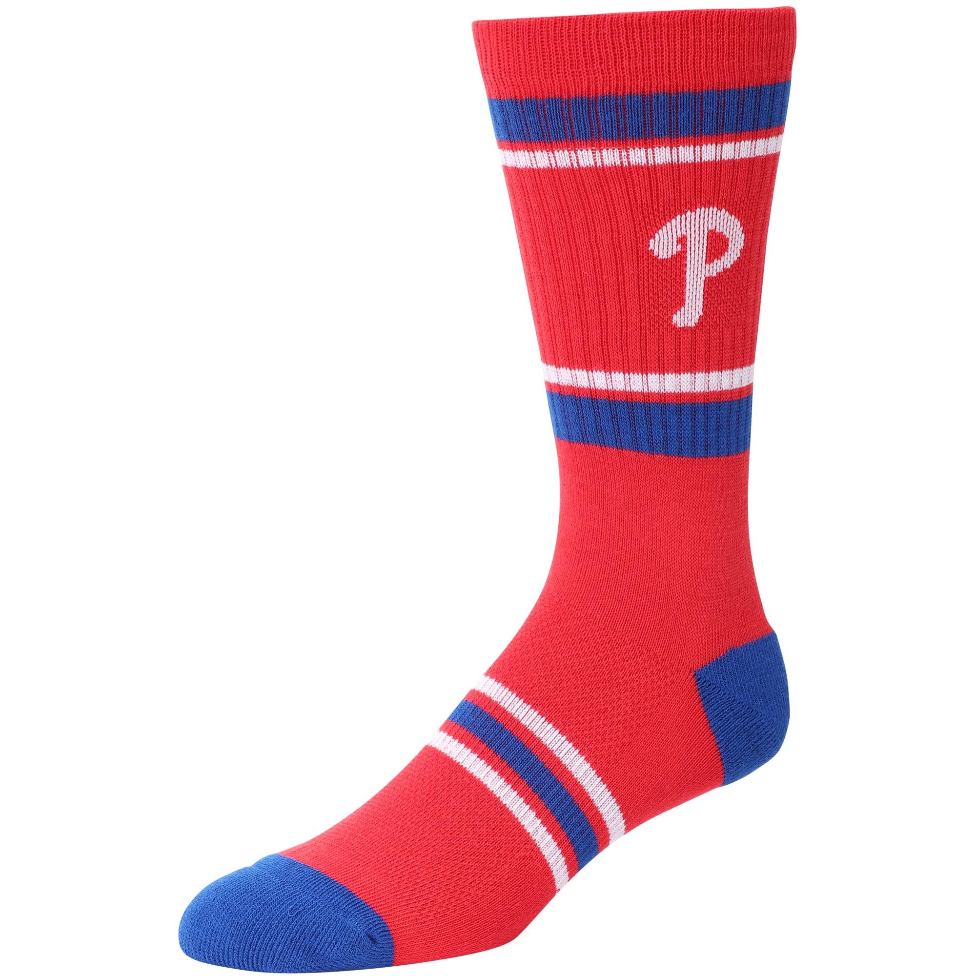 Philadelphia Phillies Stripe Crew Socks - Red