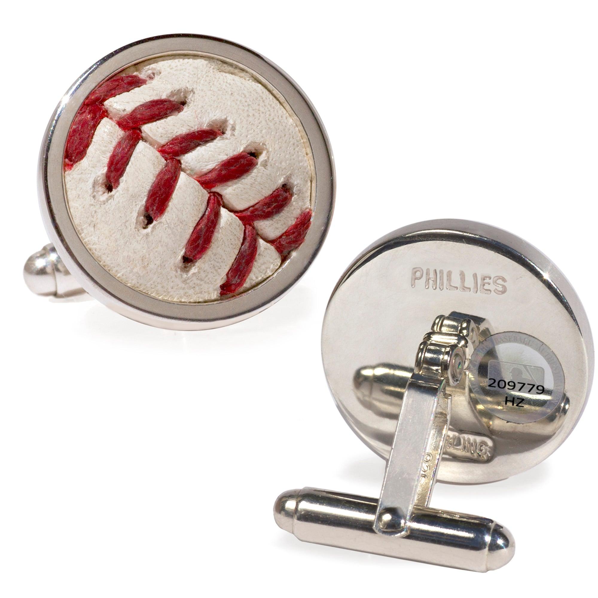 Philadelphia Phillies Tokens & Icons Game-Used Baseball Cuff Links