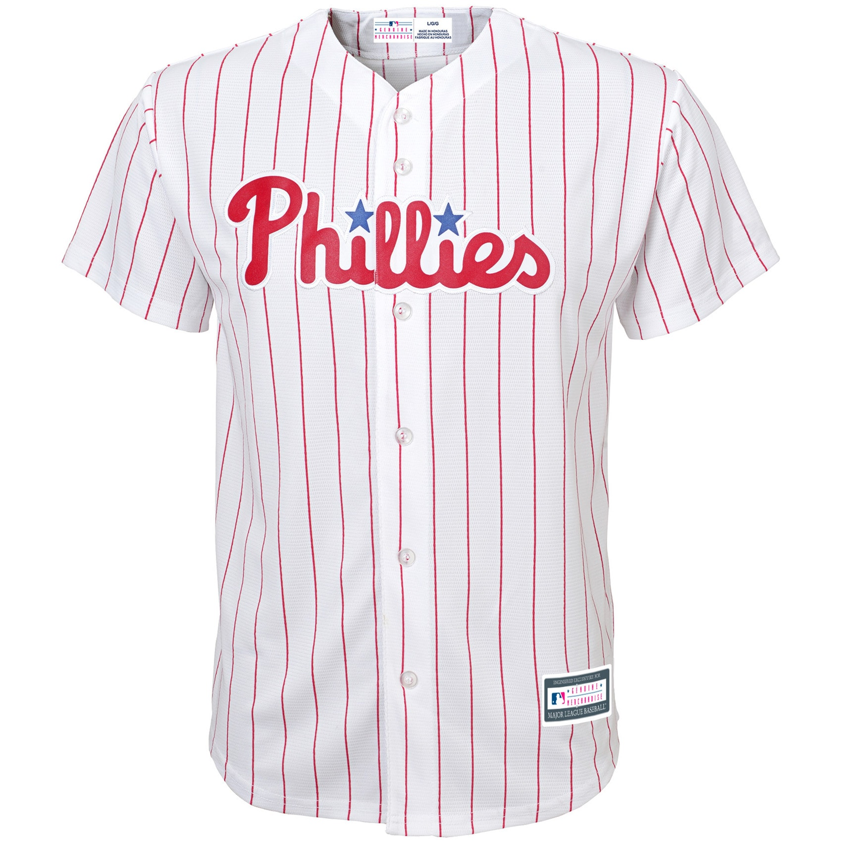 Philadelphia Phillies Youth Home Replica Blank Team Jersey - White
