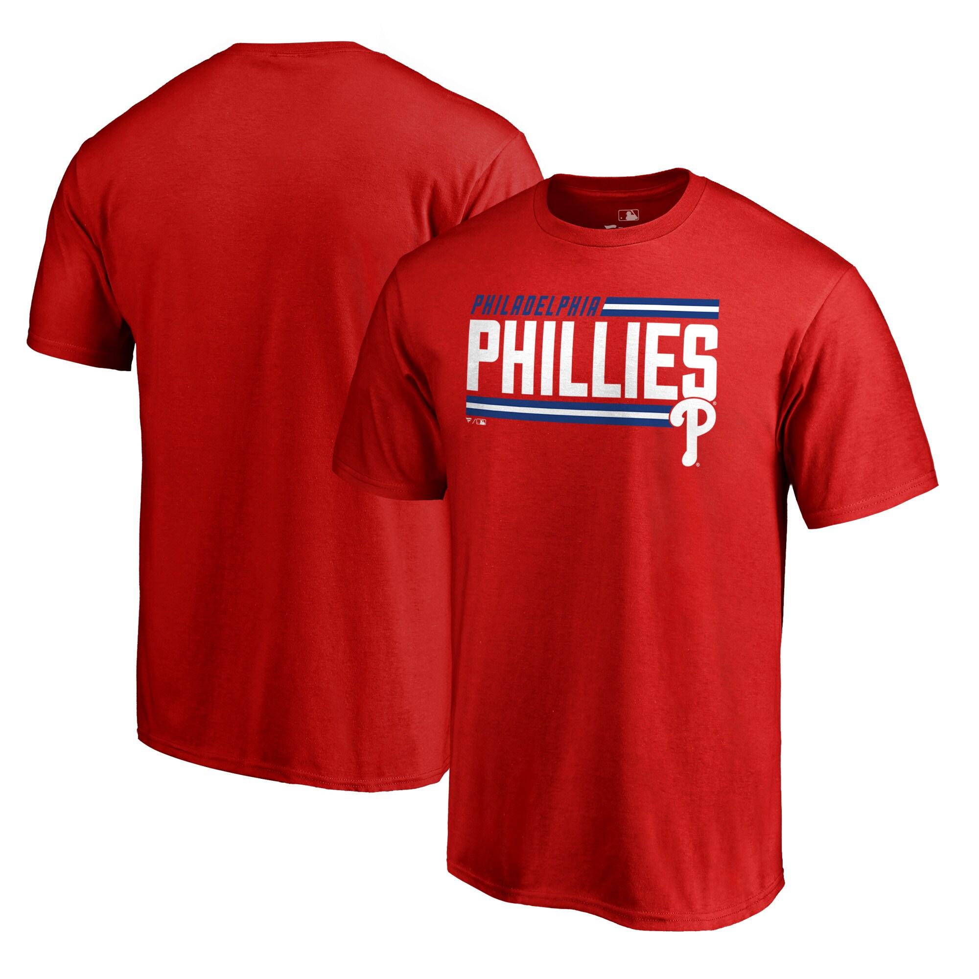 Philadelphia Phillies Fanatics Branded Onside Stripe Big & Tall T-Shirt - Red