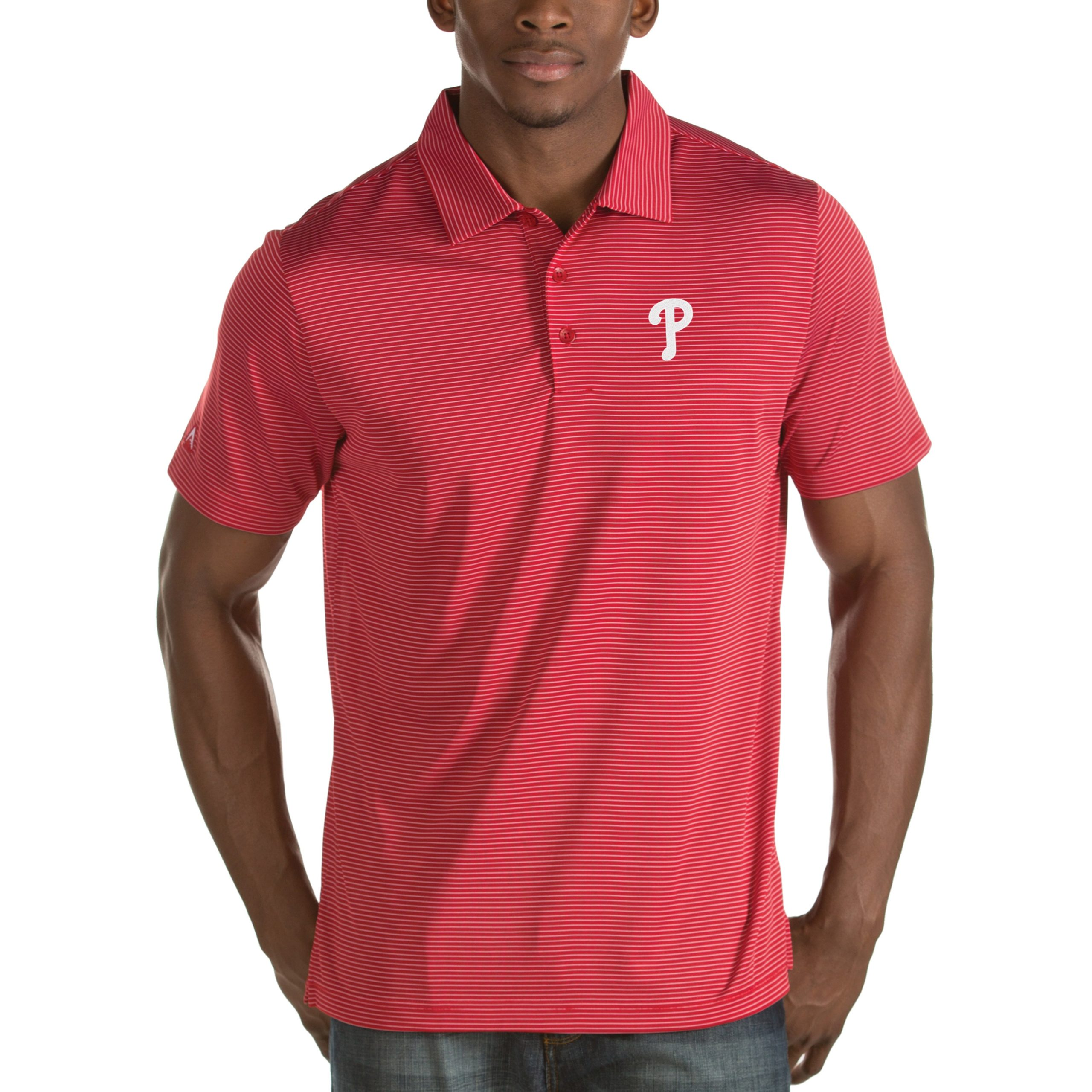 Philadelphia Phillies Antigua Quest Desert Dry Polo - Red
