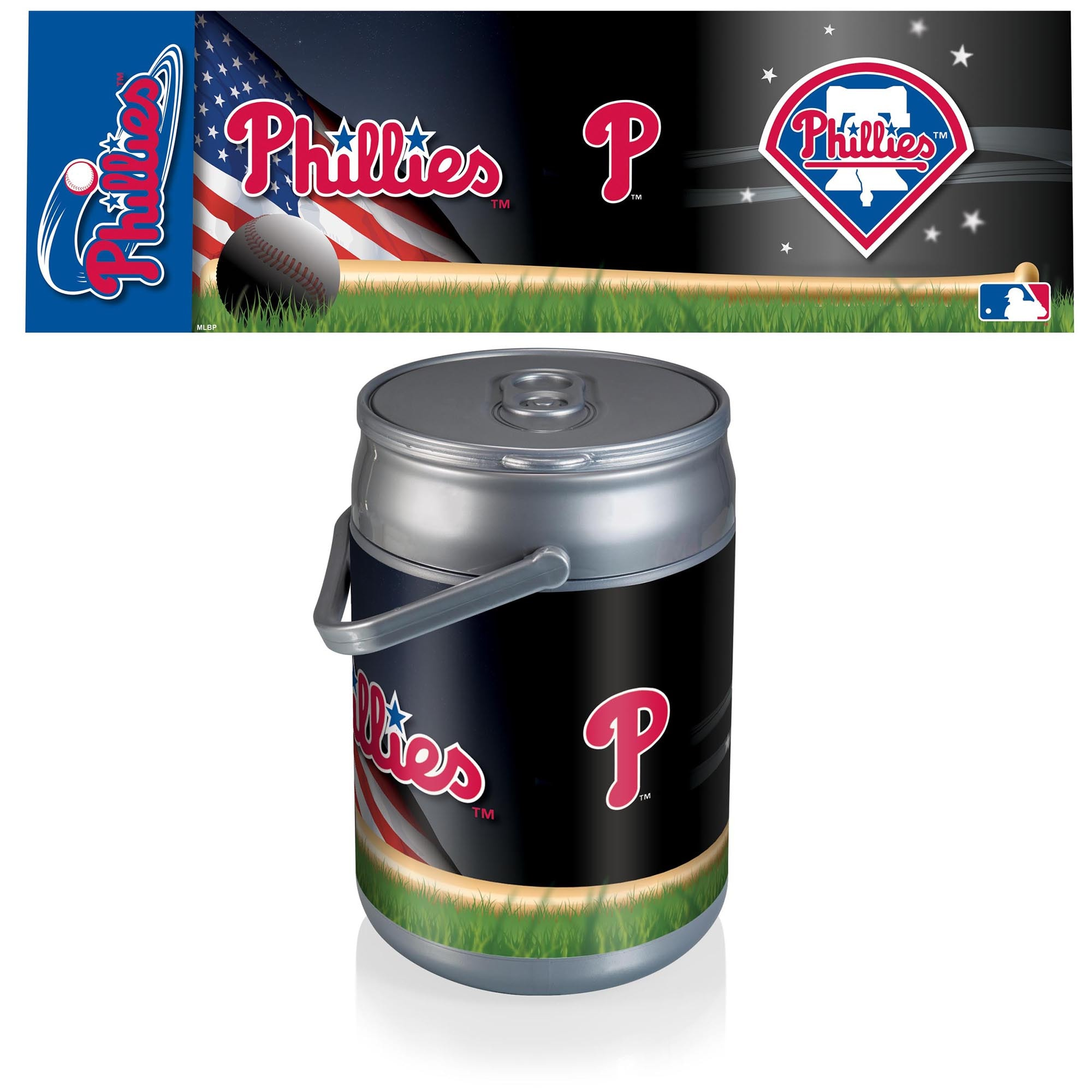 Philadelphia Phillies Diagonal Can Cooler