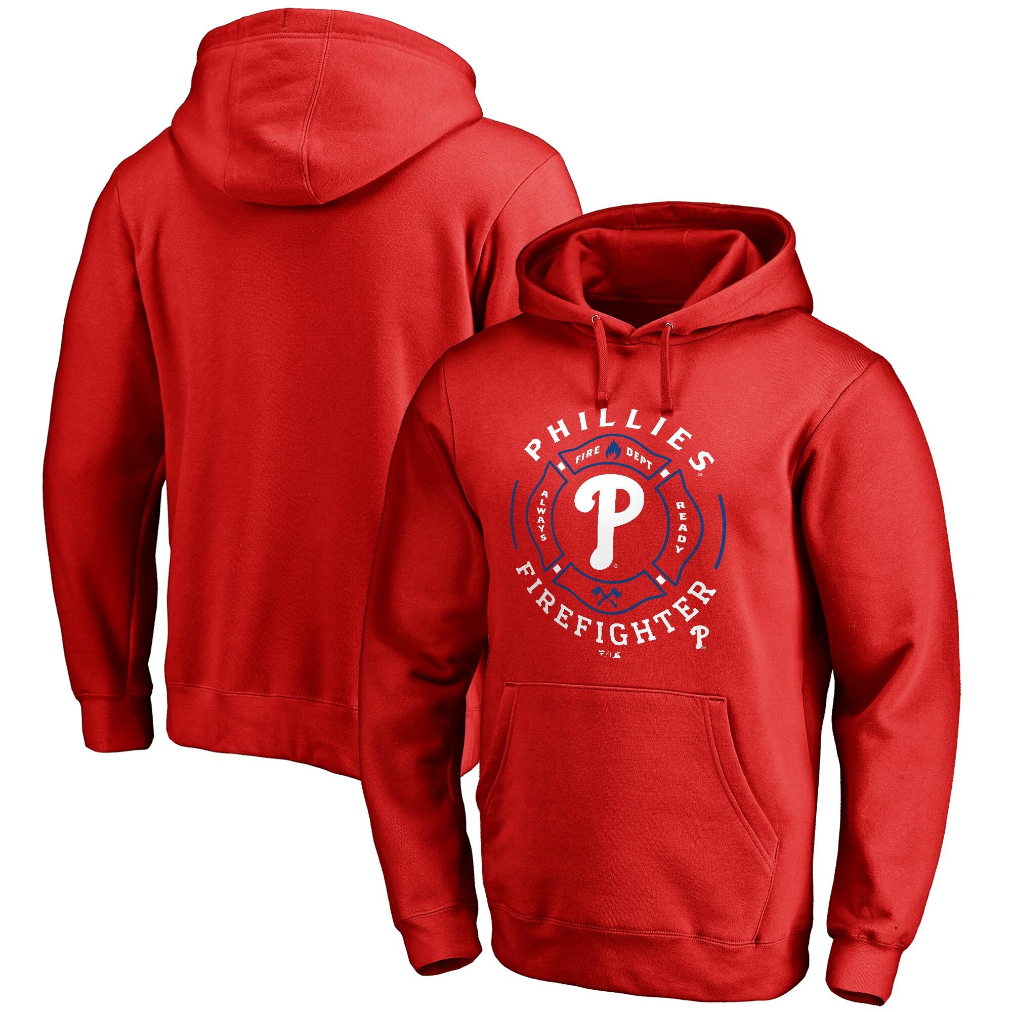 Philadelphia Phillies Firefighter Pullover Hoodie - Red