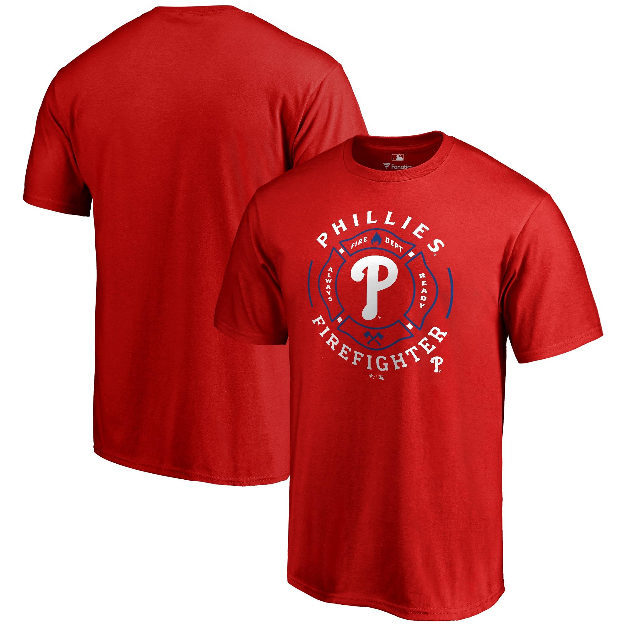 Philadelphia Phillies Firefighter T-Shirt - Red
