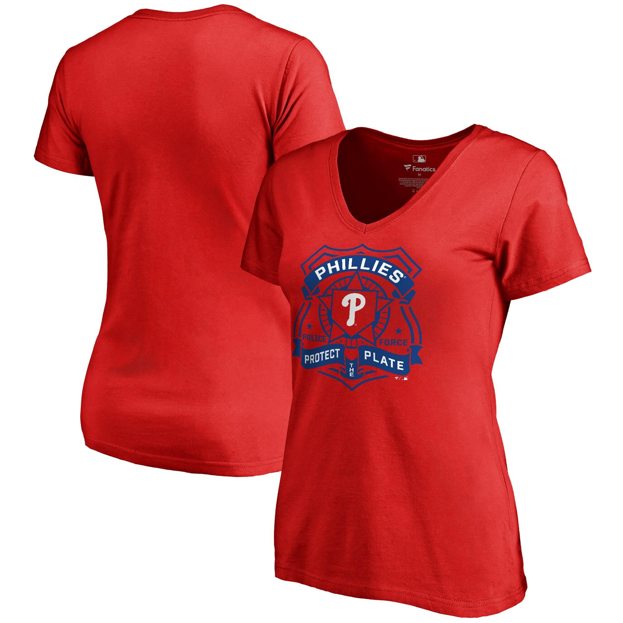 Philadelphia Phillies Women's Police Badge T-Shirt - Red