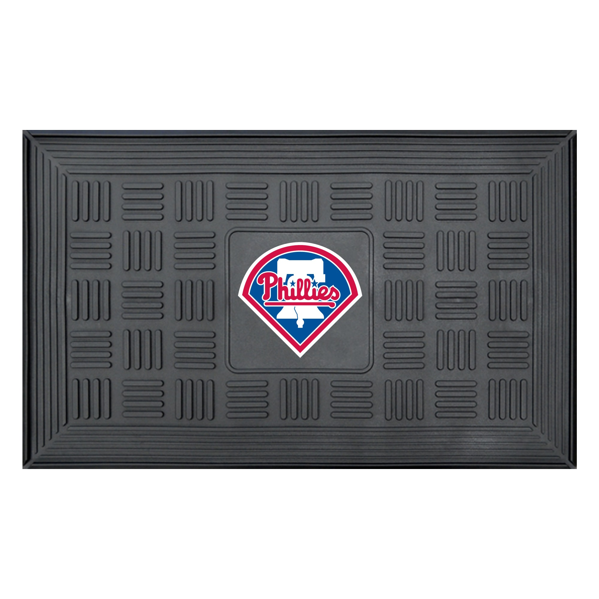 "Philadelphia Phillies 19"" x 30"" Vinyl Medallion Door Mat - Black"