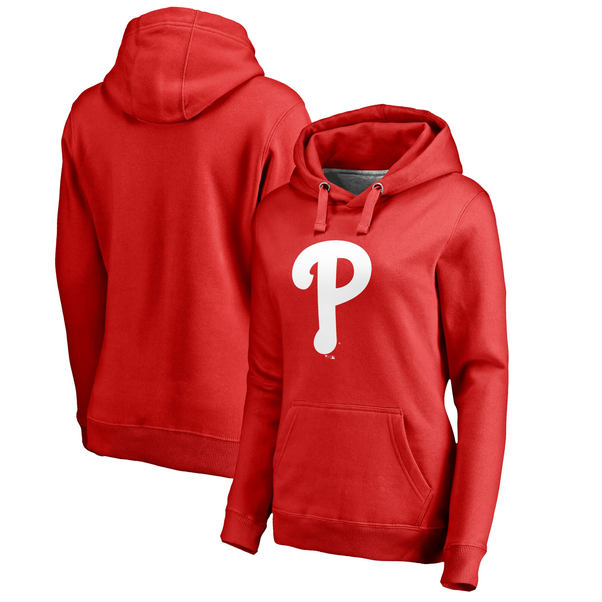 Philadelphia Phillies Women's Plus Sizes Primary Logo Pullover Hoodie - Red