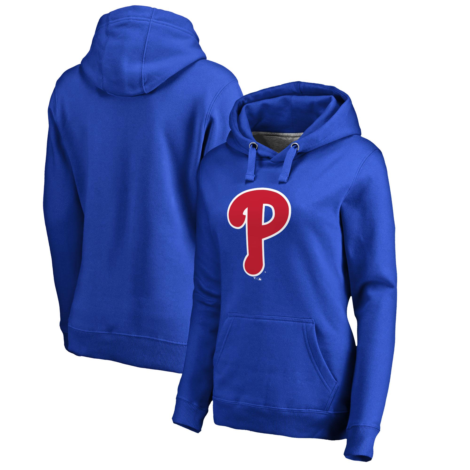 Philadelphia Phillies Women's Plus Sizes Primary Team Logo Pullover Hoodie - Royal