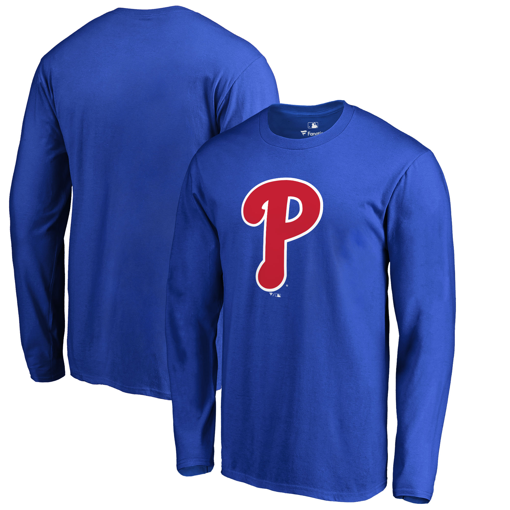 Philadelphia Phillies Big & Tall Primary Team Logo Long Sleeve T-Shirt - Royal