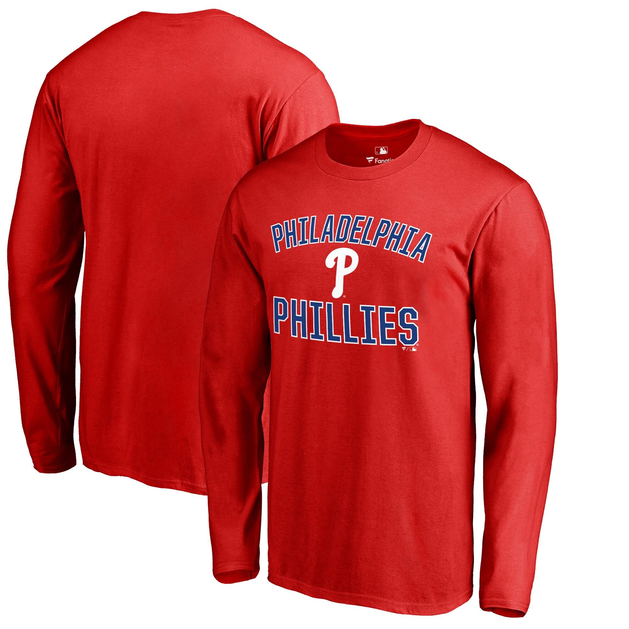 Philadelphia Phillies Victory Arch Big & Tall Long Sleeve T-Shirt - Red
