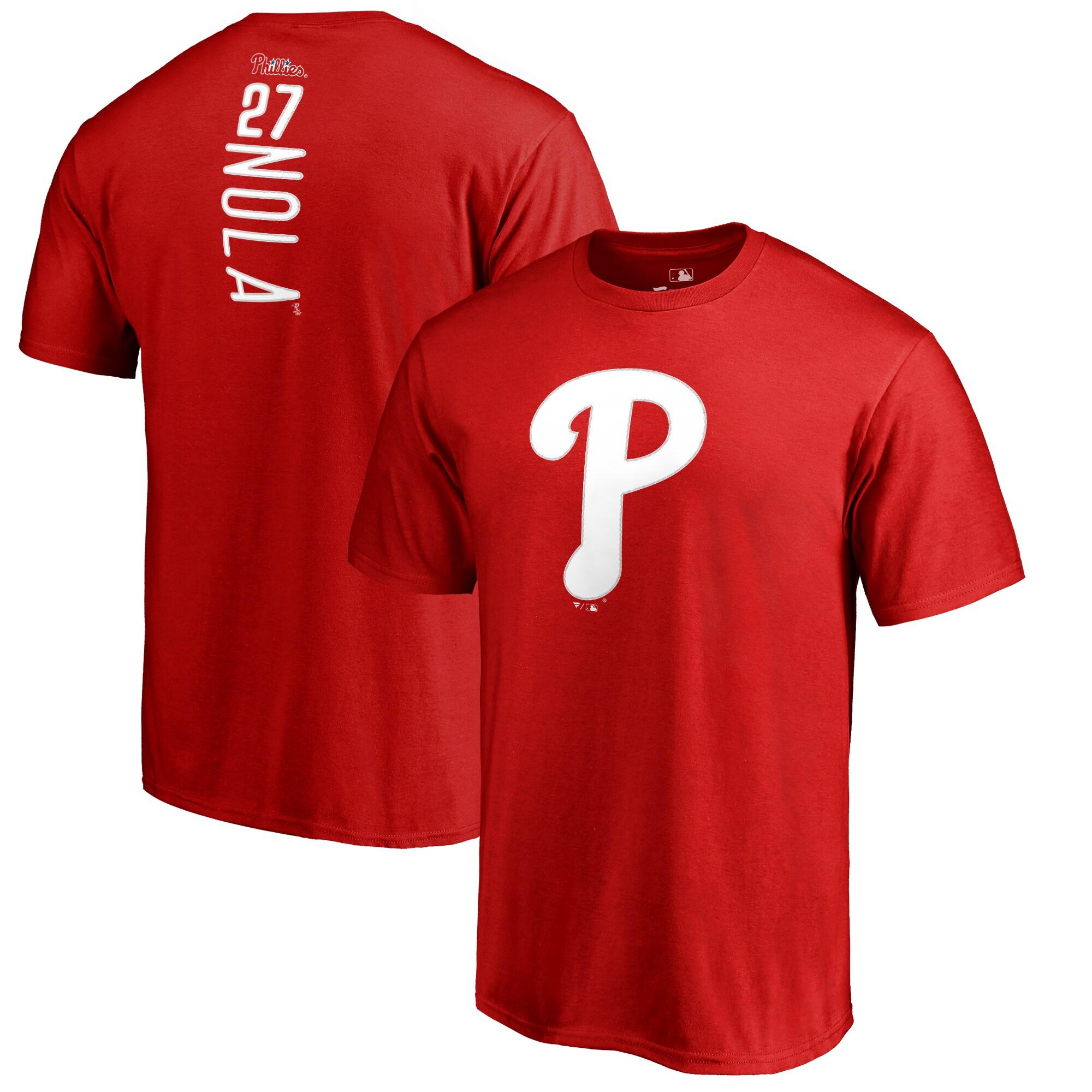 Aaron Nola Philadelphia Phillies Backer T-Shirt - Red