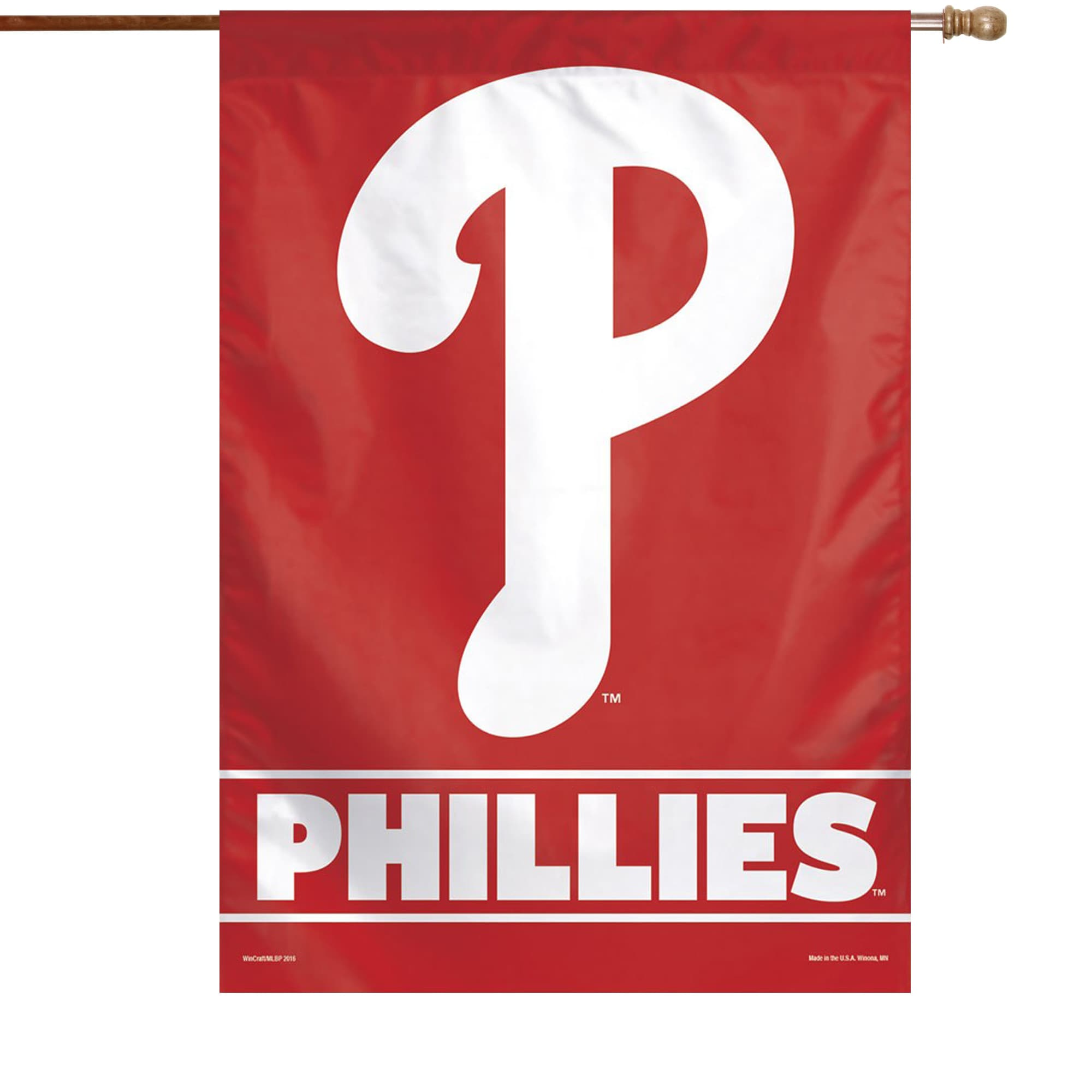 "Philadelphia Phillies WinCraft 28"" x 40"" Primary Logo Single-Sided Vertical Banner"