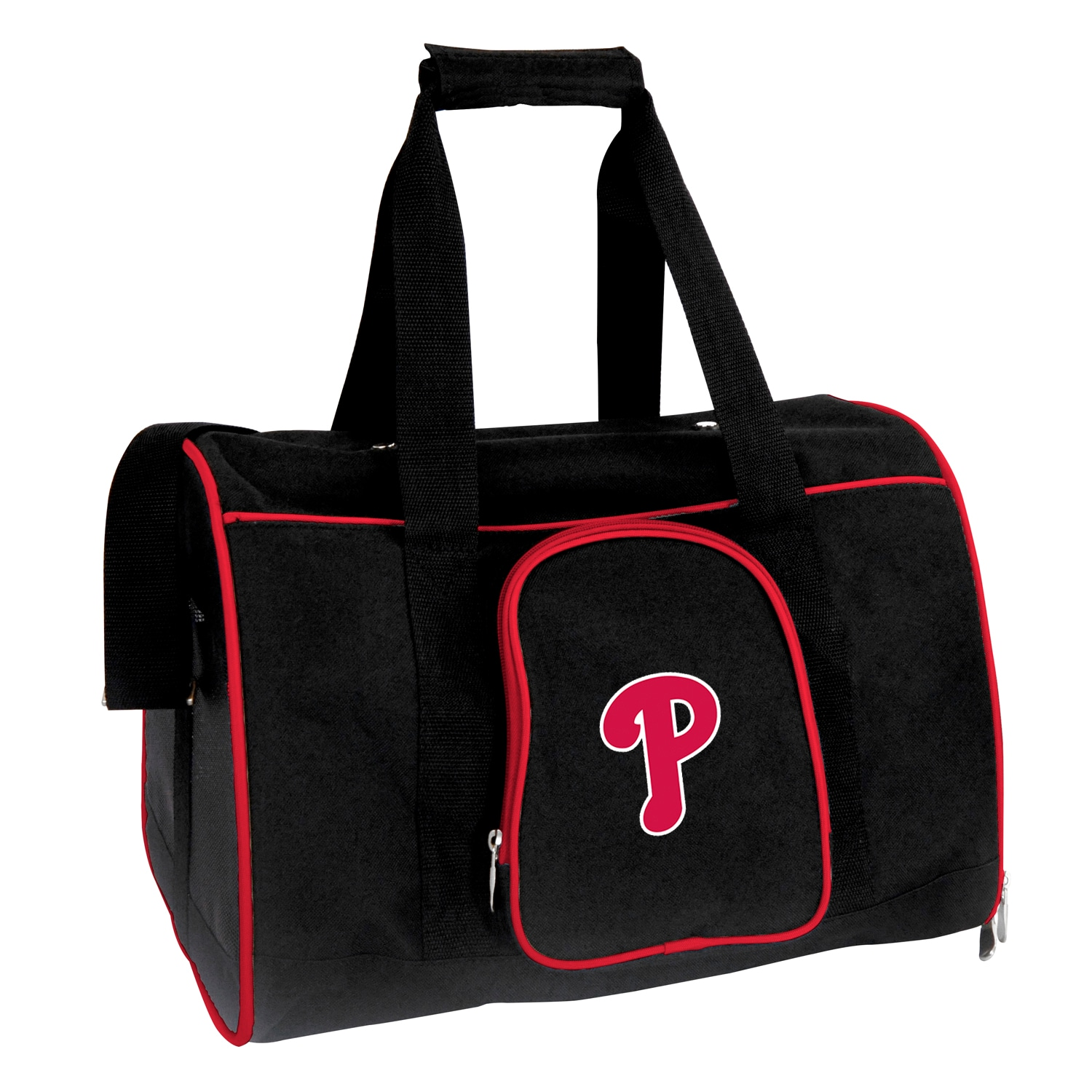 "Philadelphia Phillies Small 16"" Pet Carrier - Black"