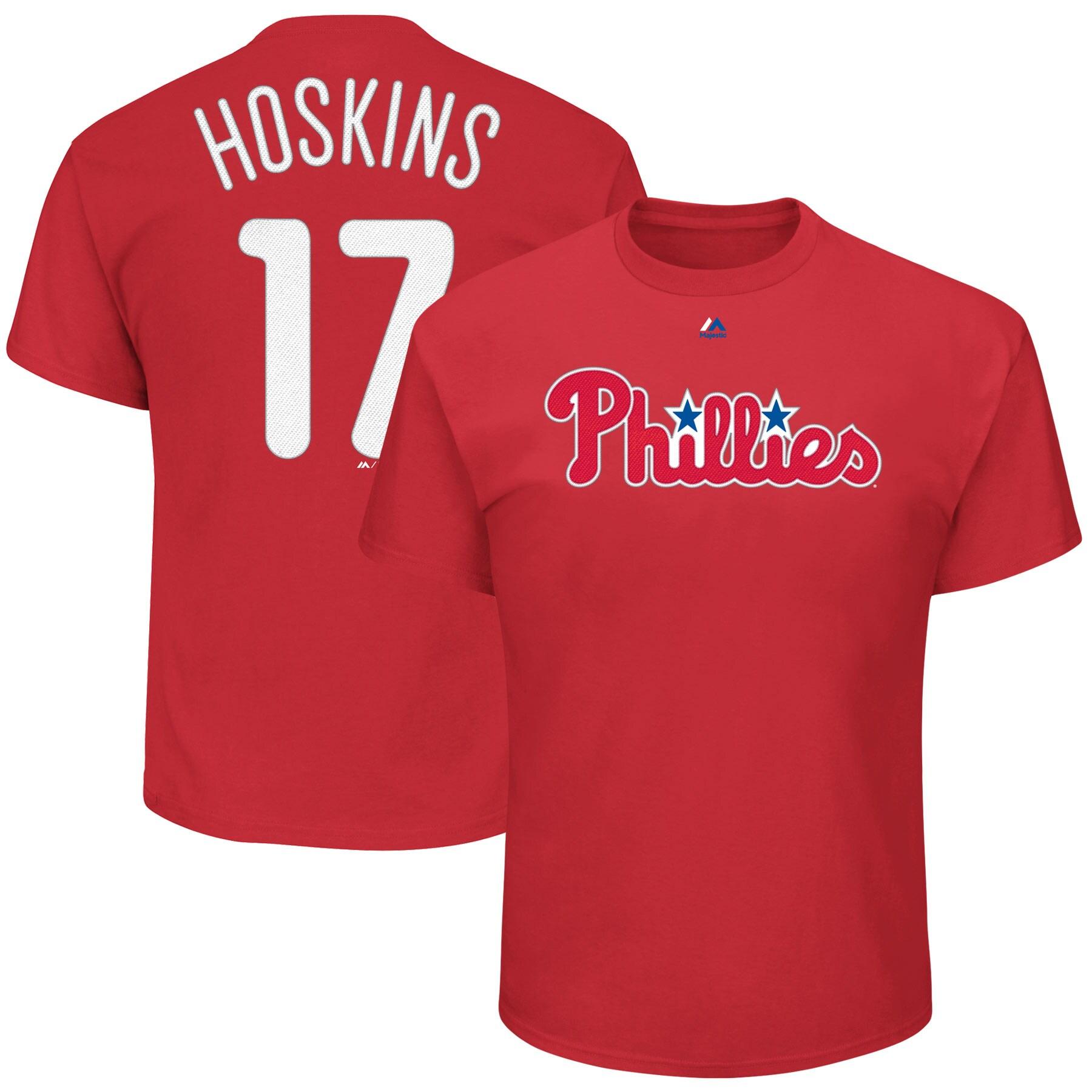 Rhys Hoskins Philadelphia Phillies Majestic Big & Tall Player T-Shirt - Red