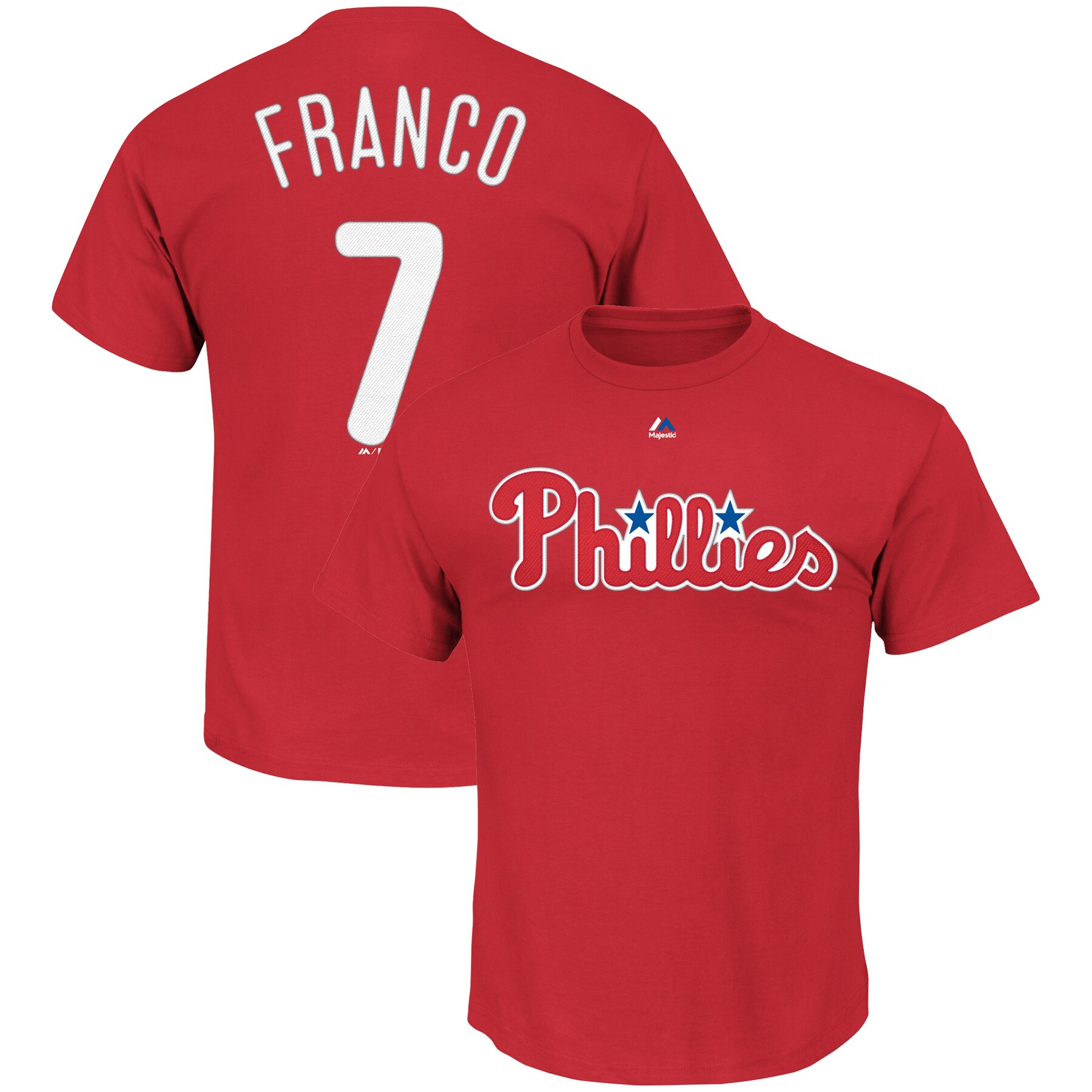 Maikel Franco Philadelphia Phillies Majestic Big & Tall Official Player T-Shirt - Red