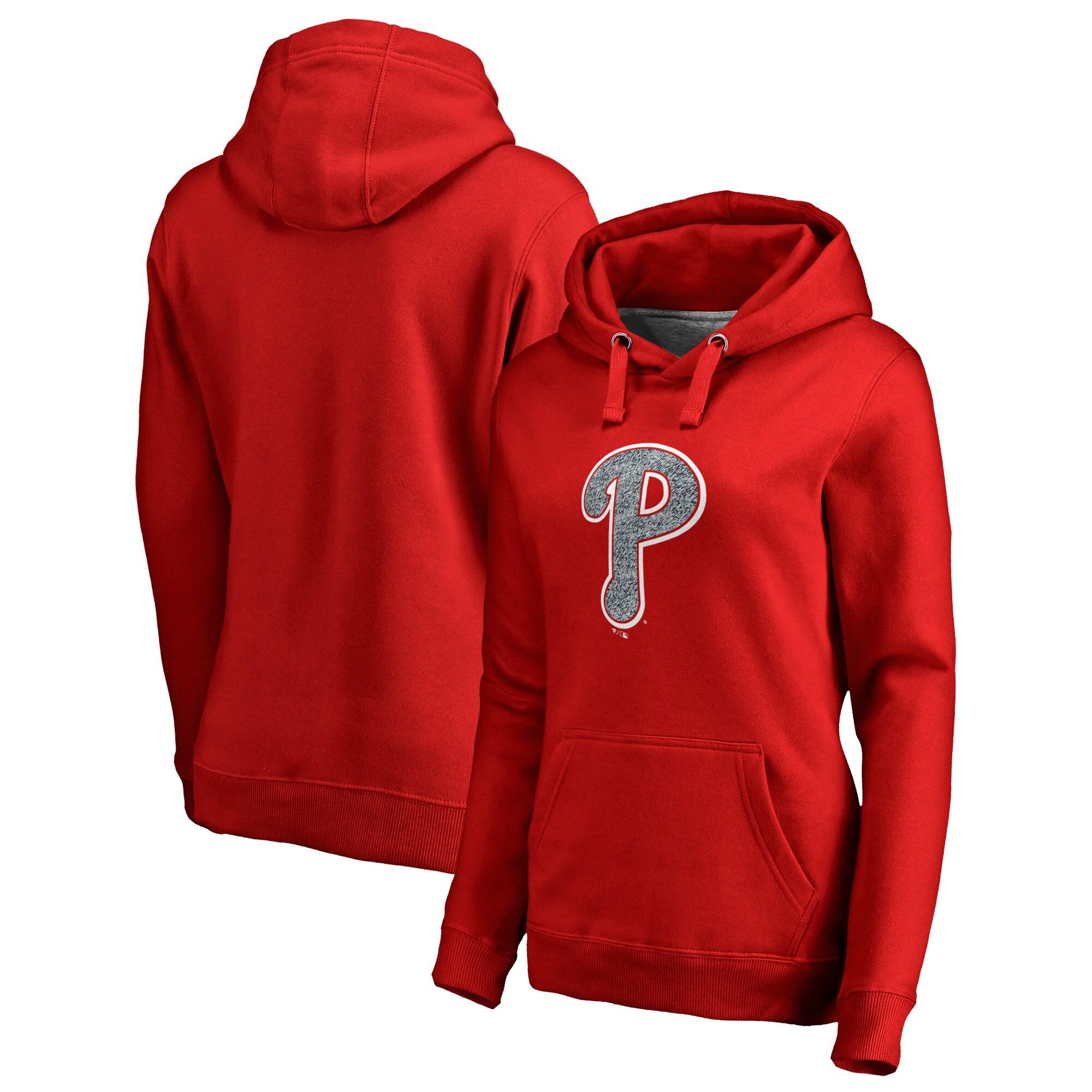 Philadelphia Phillies Fanatics Branded Women's Static Logo Pullover Hoodie - Red