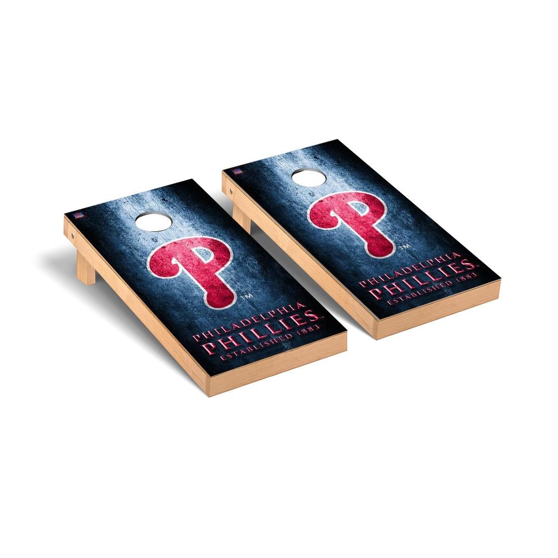 Philadelphia Phillies 2' x 4' Metal Cornhole Board Tailgate Toss Set