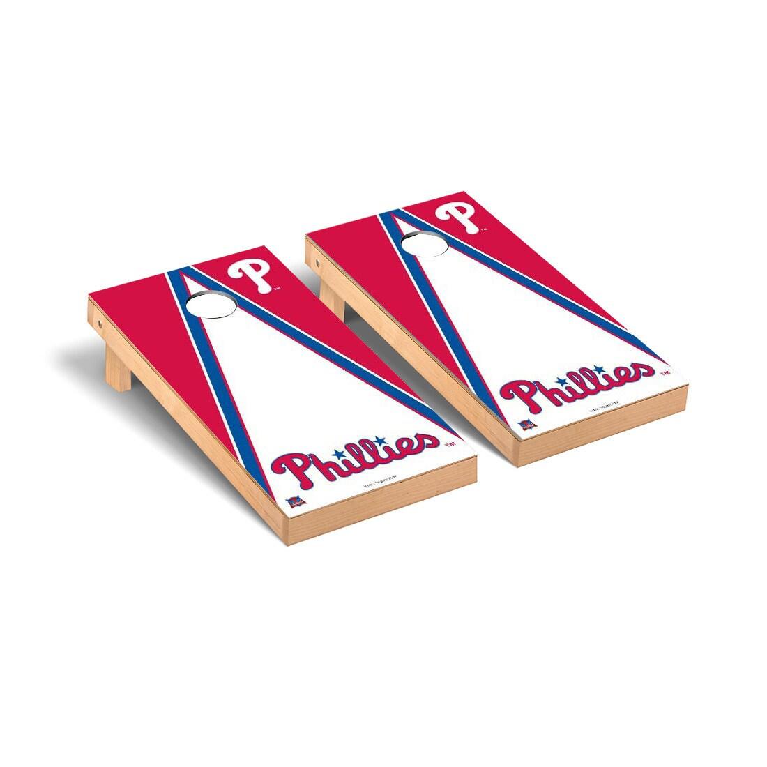 Philadelphia Phillies 2' x 4' Triangle Cornhole Board Tailgate Toss Set