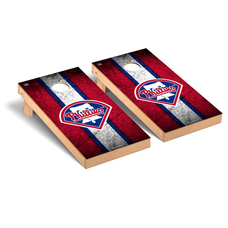 Philadelphia Phillies 2' x 4' Vintage Cornhole Board Tailgate Toss Set