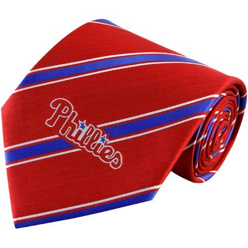 Philadelphia Phillies Woven Poly Striped Tie