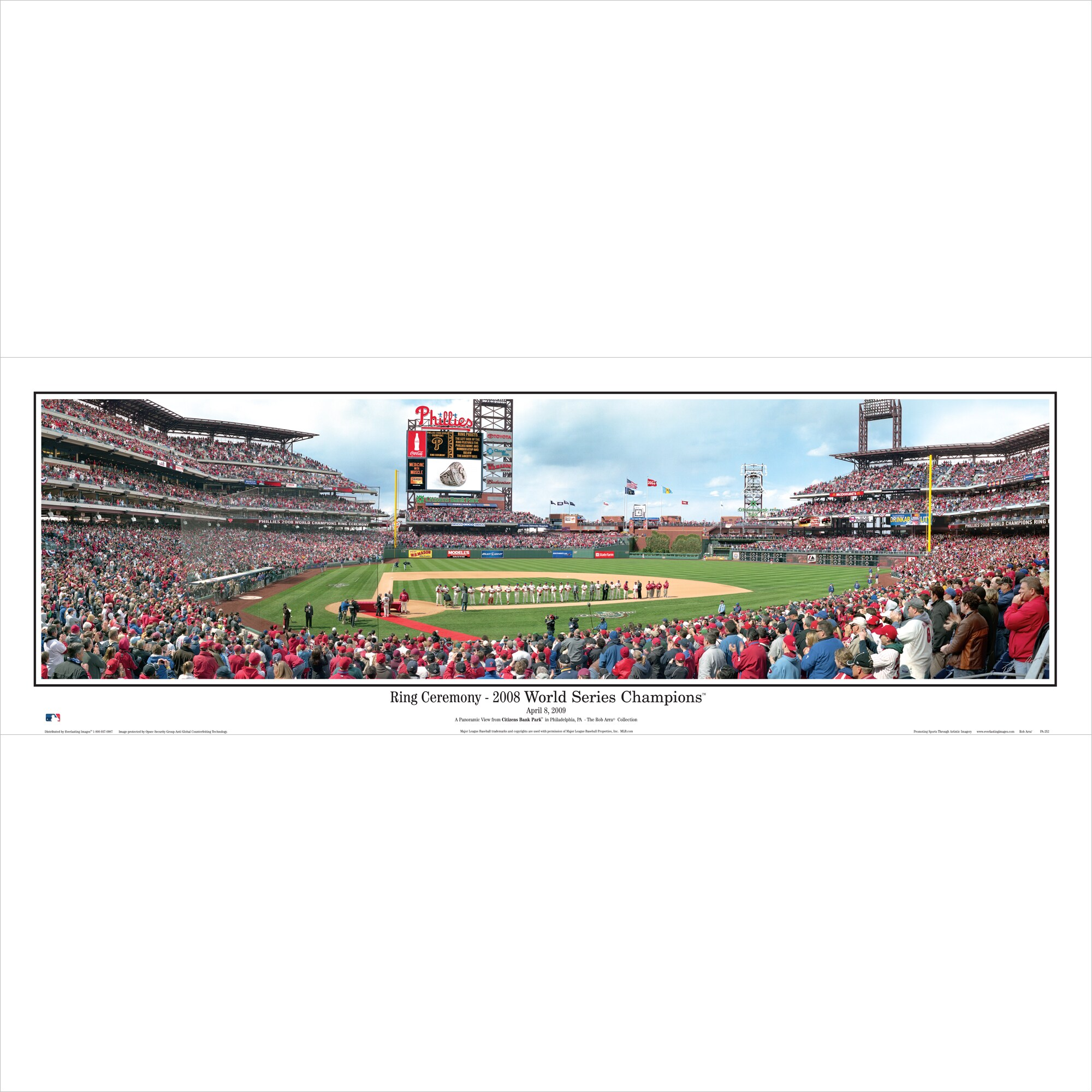 "Philadelphia Phillies 39"" x 13.5"" Ring Ceremony Standard Black Framed Panoramic"