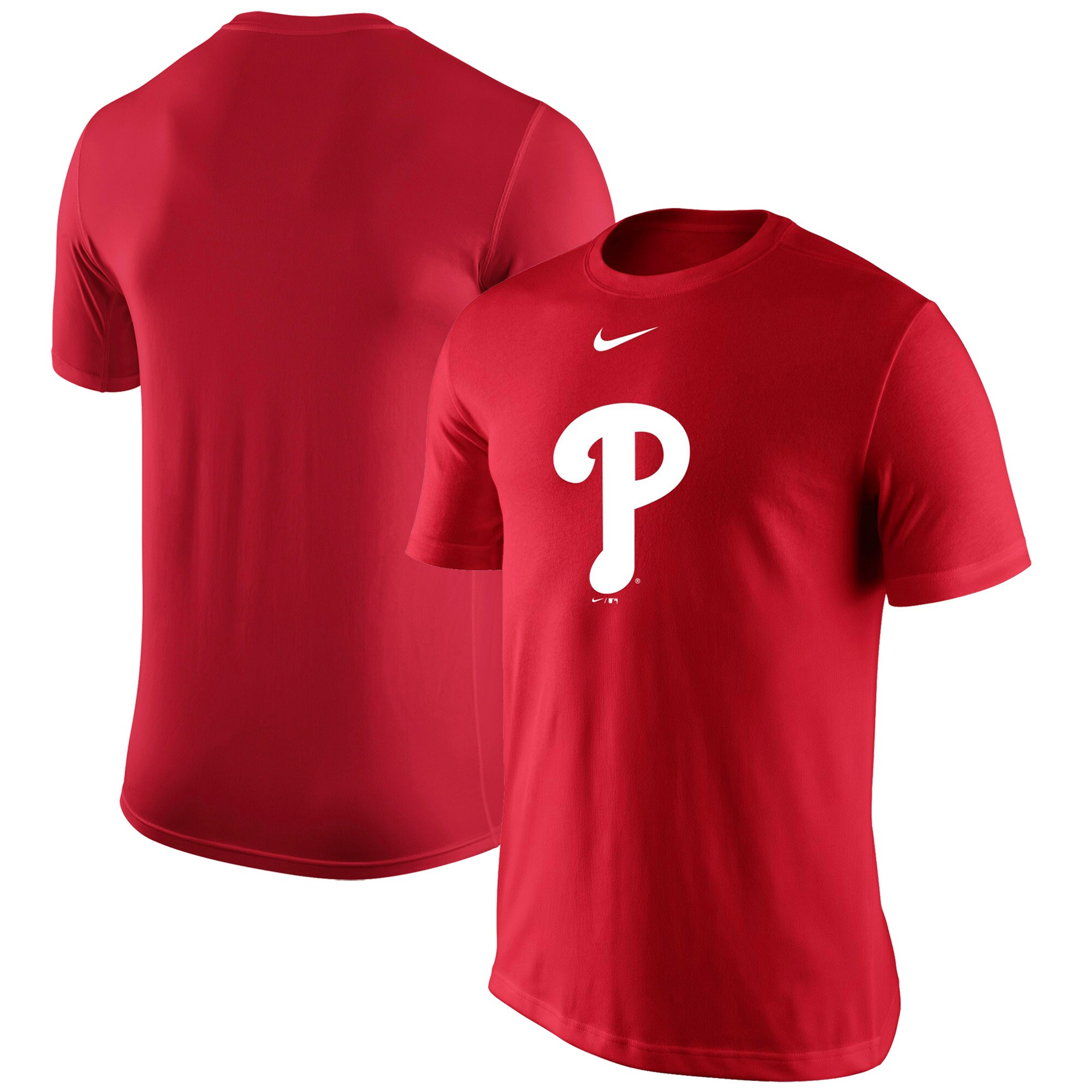 Philadelphia Phillies Nike Legend Batting Practice Primary Logo Performance T-Shirt - Red