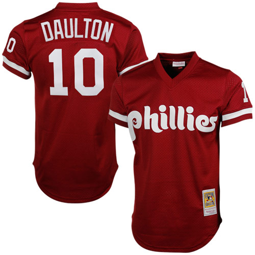 Darren Daulton Philadelphia Phillies Mitchell & Ness Cooperstown Mesh Batting Practice Jersey - Red