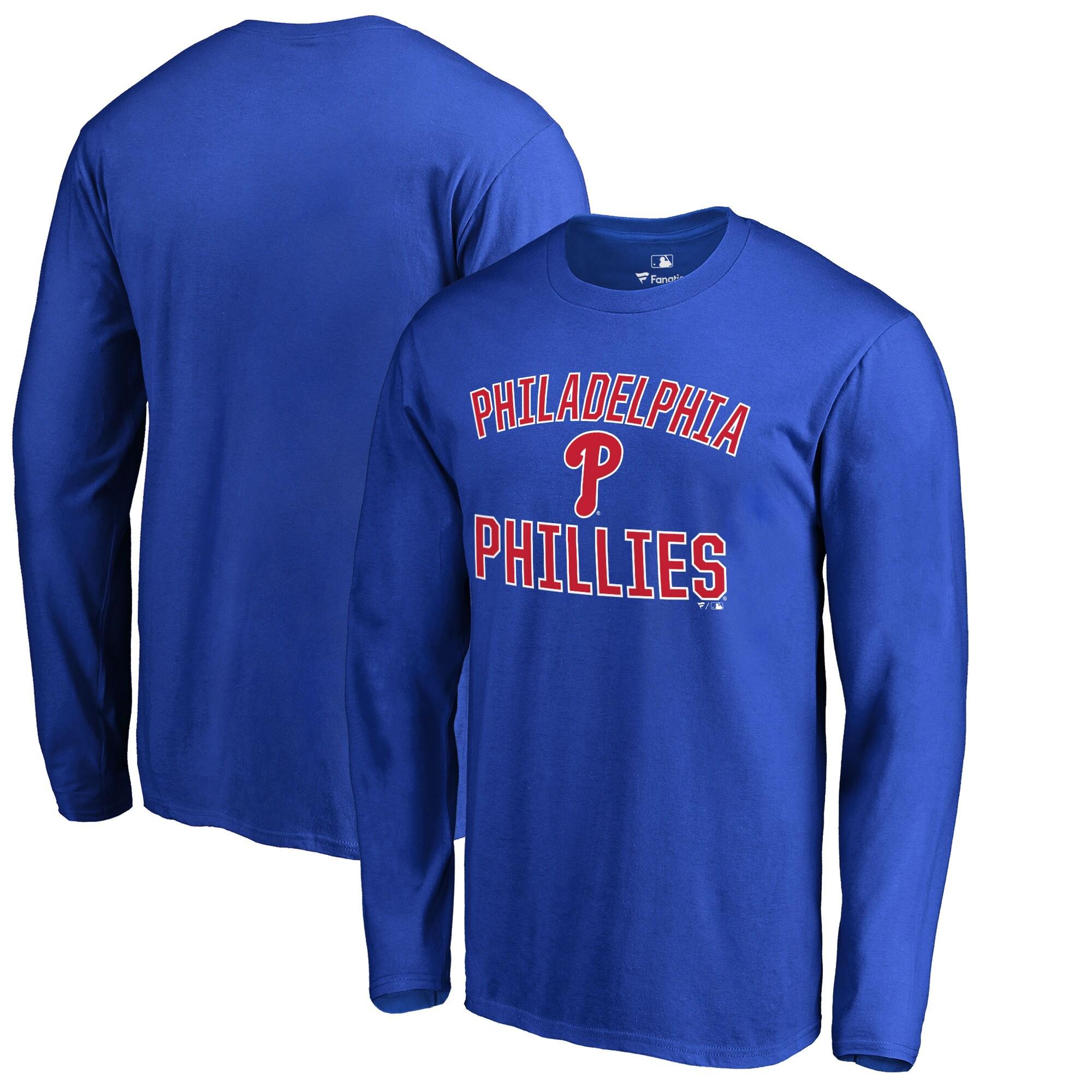 Philadelphia Phillies Victory Arch Long Sleeve T-Shirt - Royal