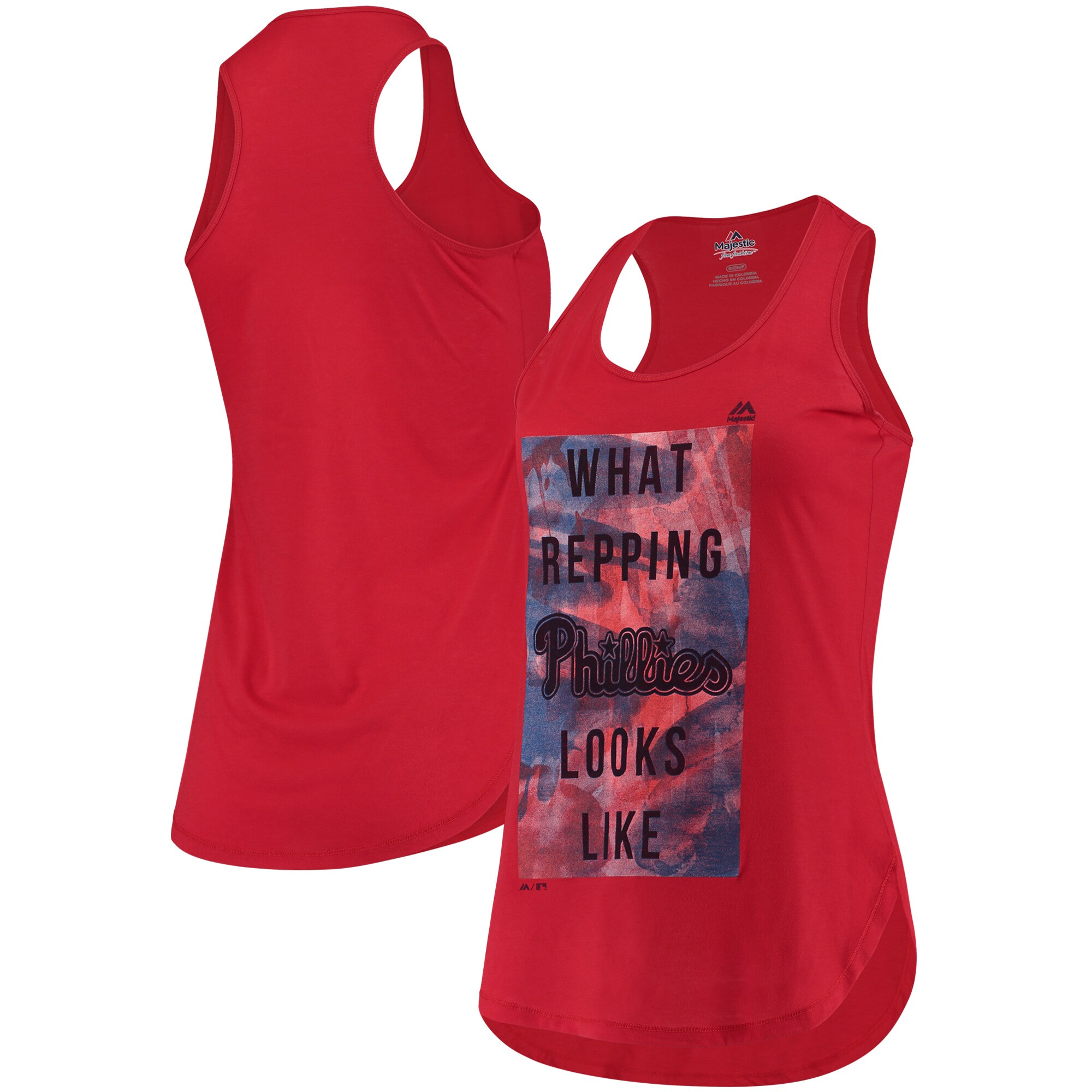 Philadelphia Phillies Majestic Women's All Day Long Tank Top - Red