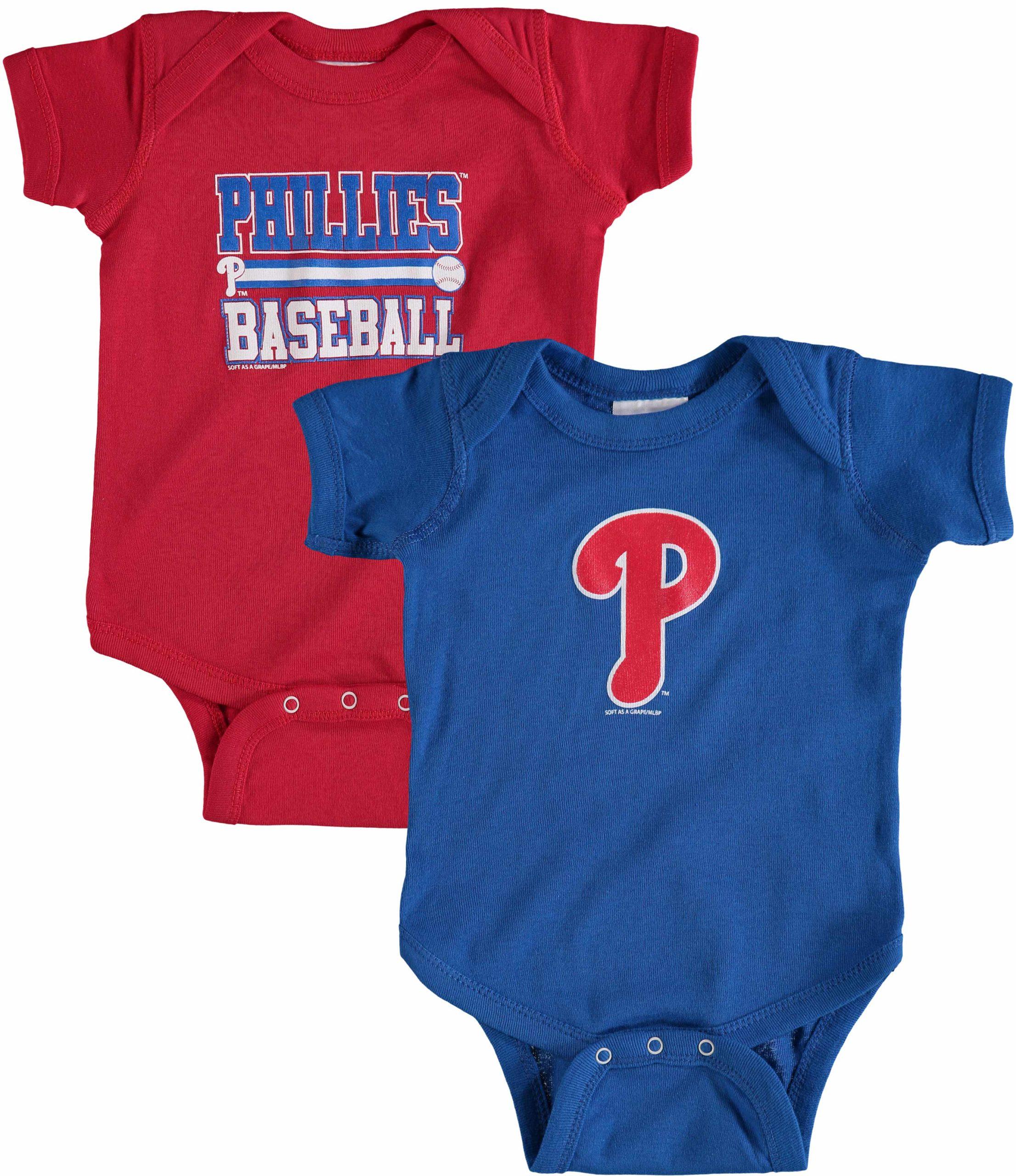 Philadelphia Phillies Soft as a Grape Newborn & Infant 2-Piece Body Suit - Red/Royal