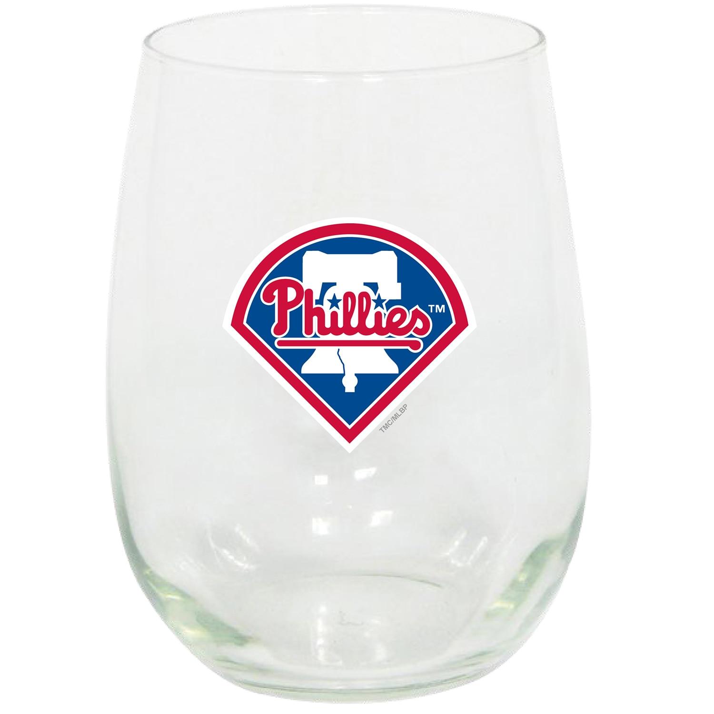 Philadelphia Phillies 15oz. Stemless Wine Glass
