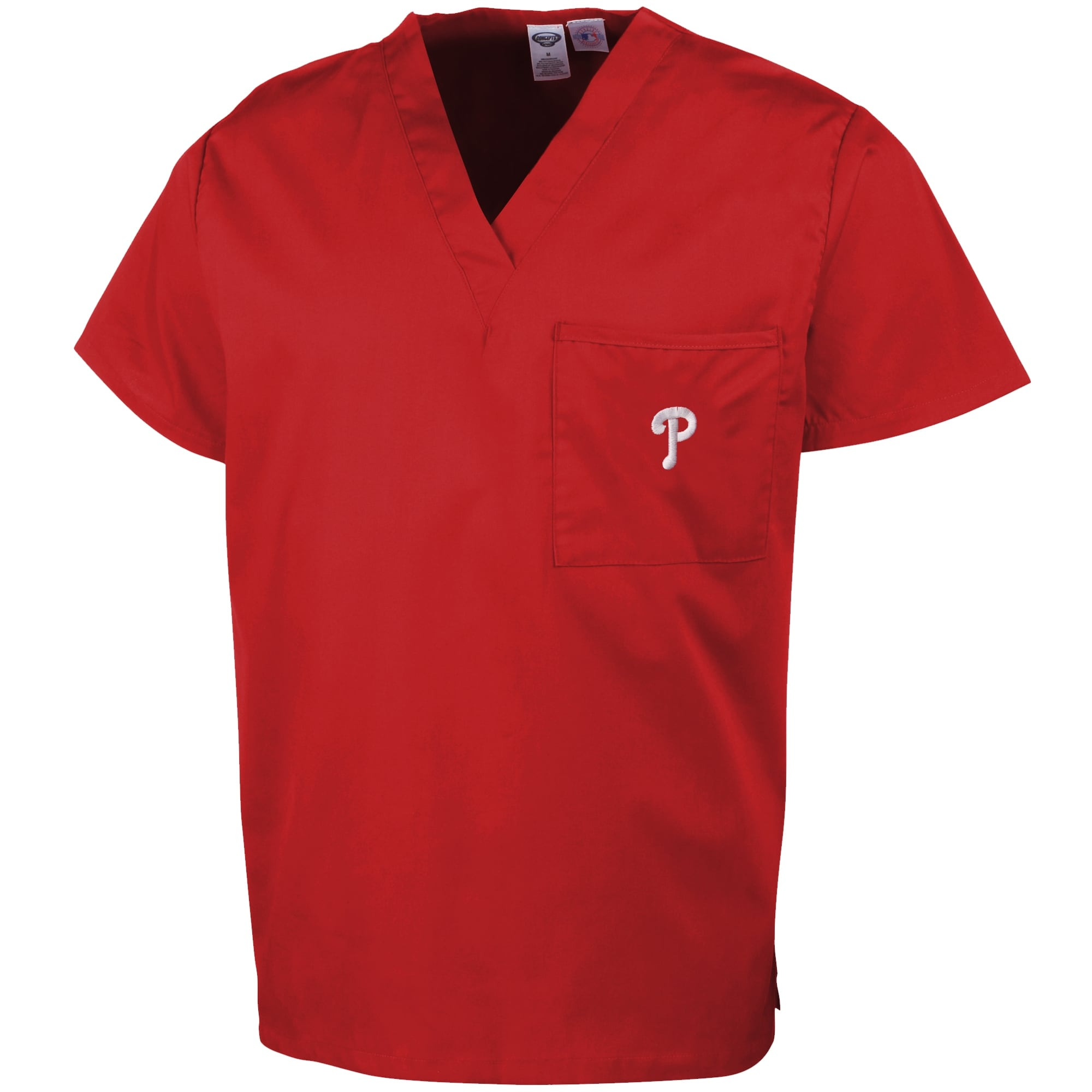Philadelphia Phillies Unisex Scrub Top - Red