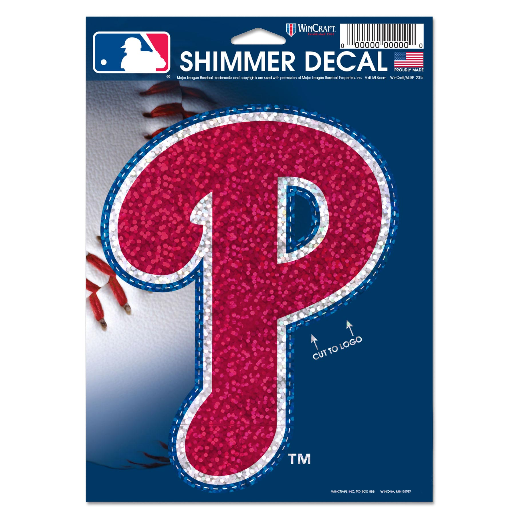"Philadelphia Phillies WinCraft 5"" x 7"" Shimmer Decal"